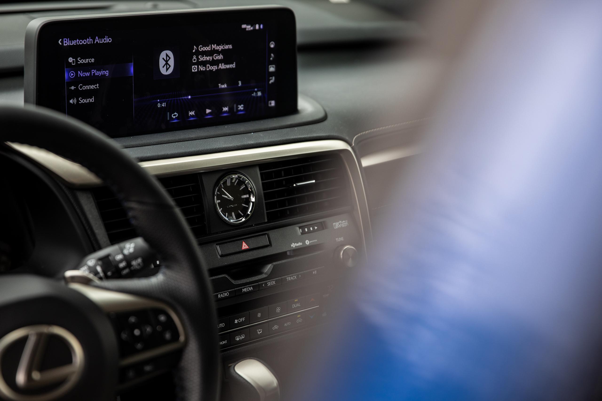 2021 Lexus RX450h interior clock