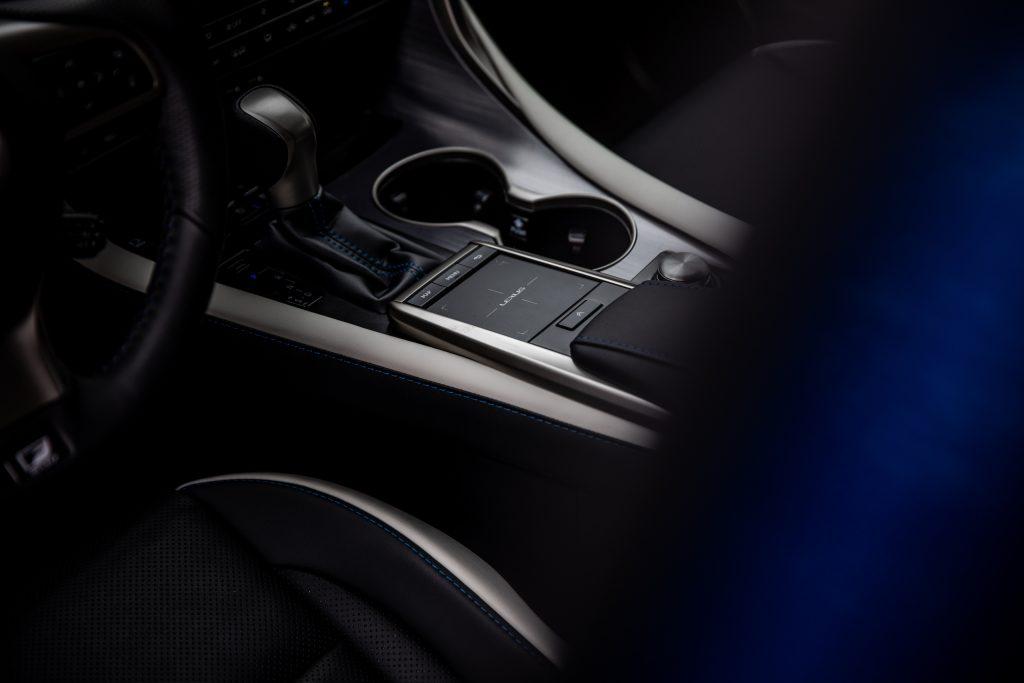 2021 Lexus RX450h interior center console detail