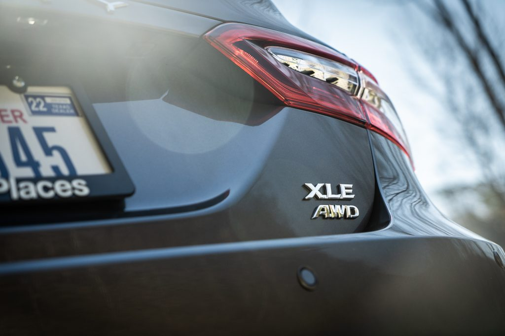2021 Toyota Camry XLE AWD rear badge