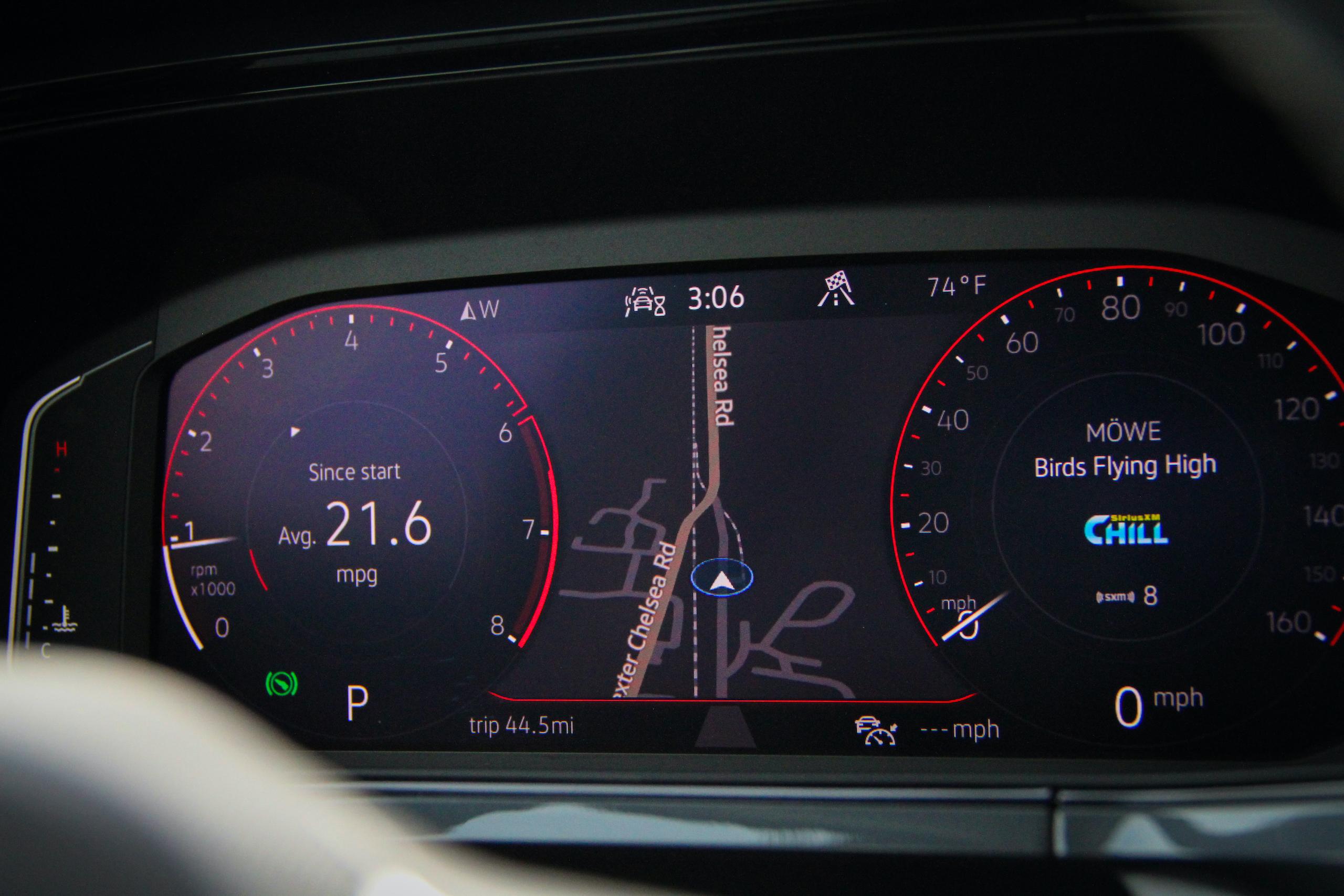 2022 Volkswagen Taos SEL AWD dash gauges
