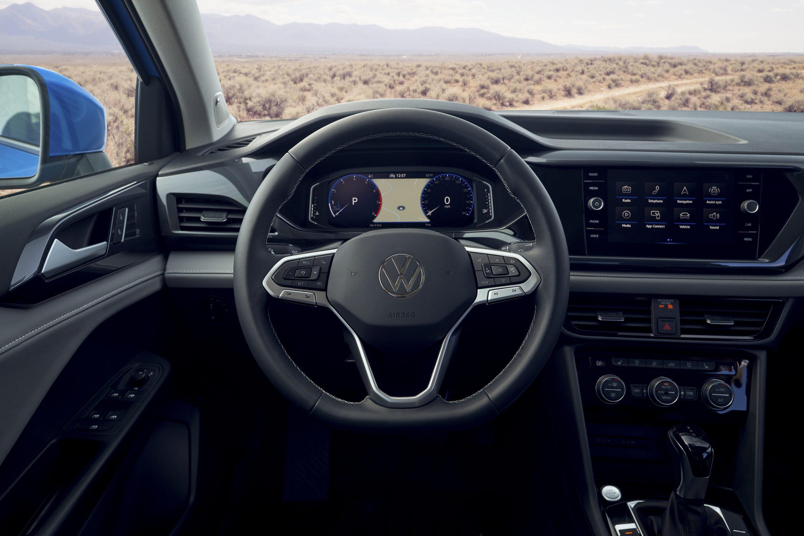 2022 Volkswagen Taos interior steering wheel