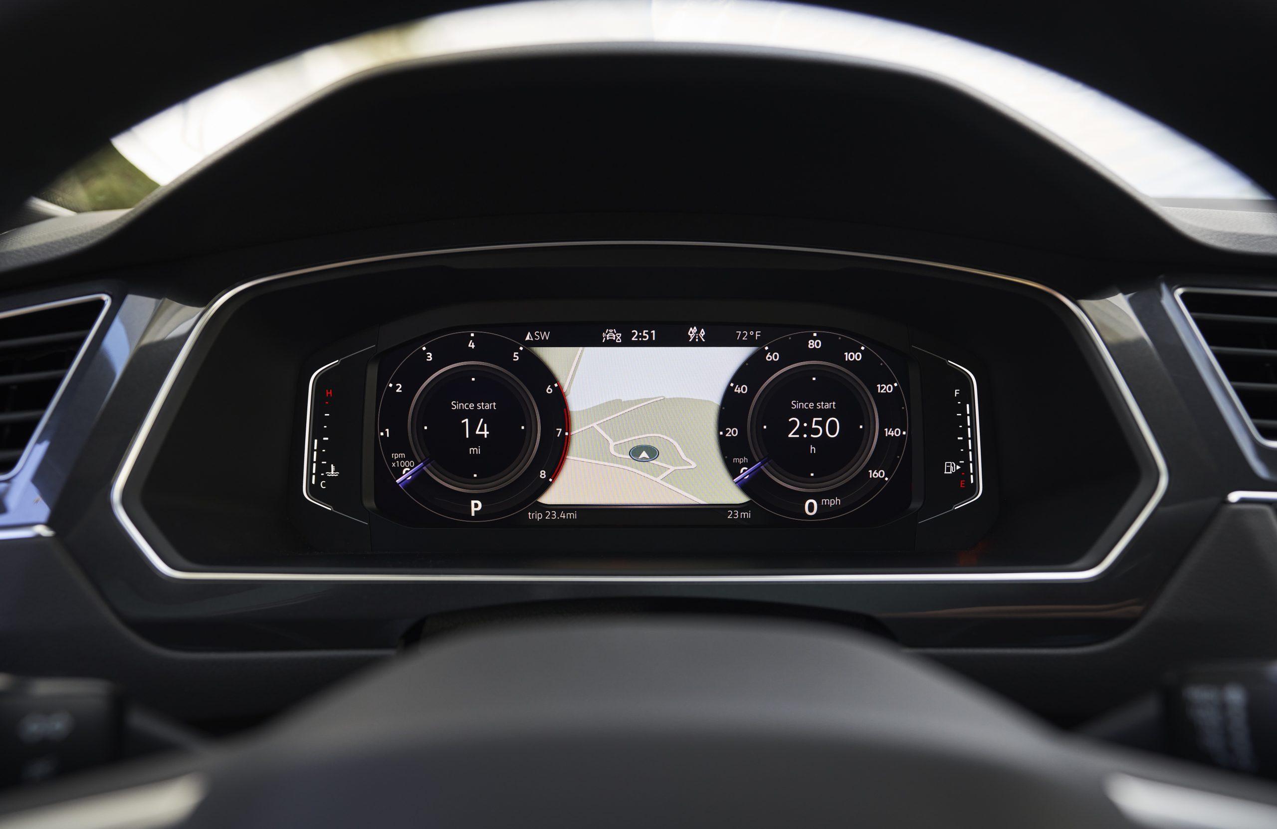 2022 VW Tiguan facelift digital instrument cluster