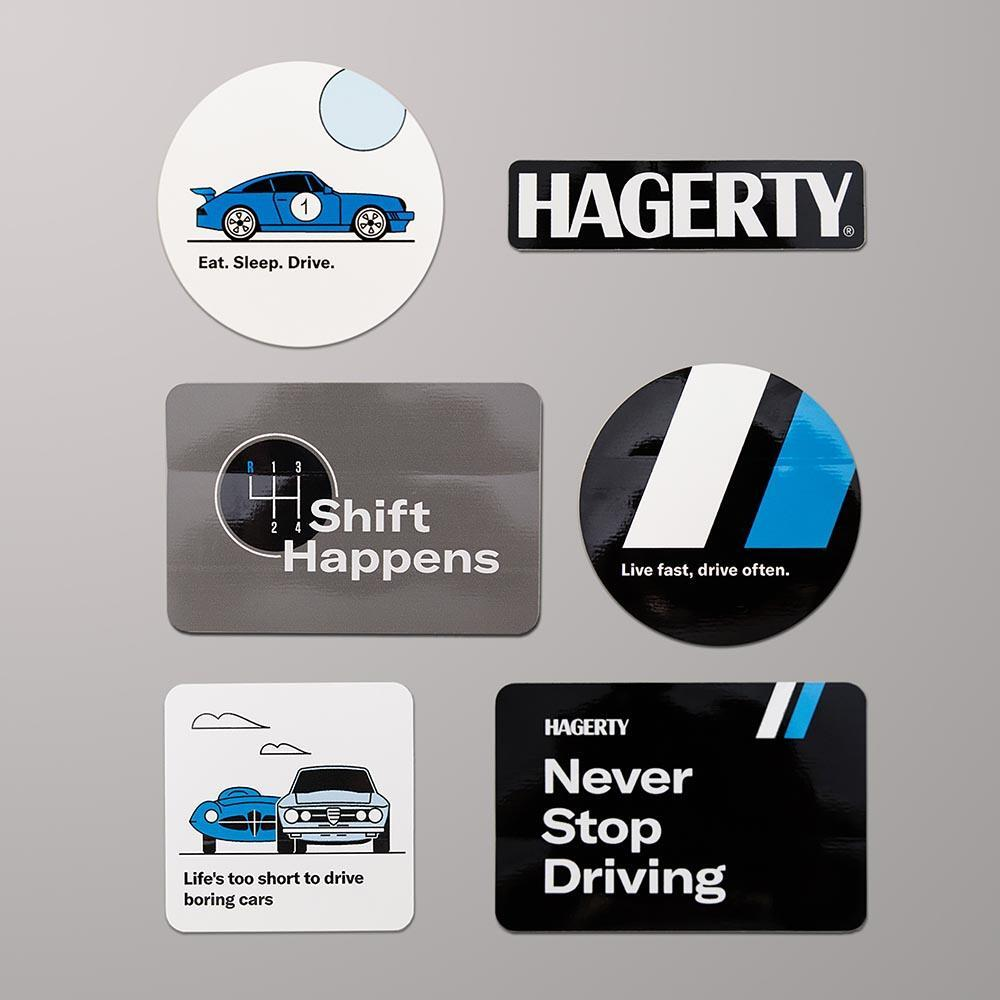 hagerty shop stickers