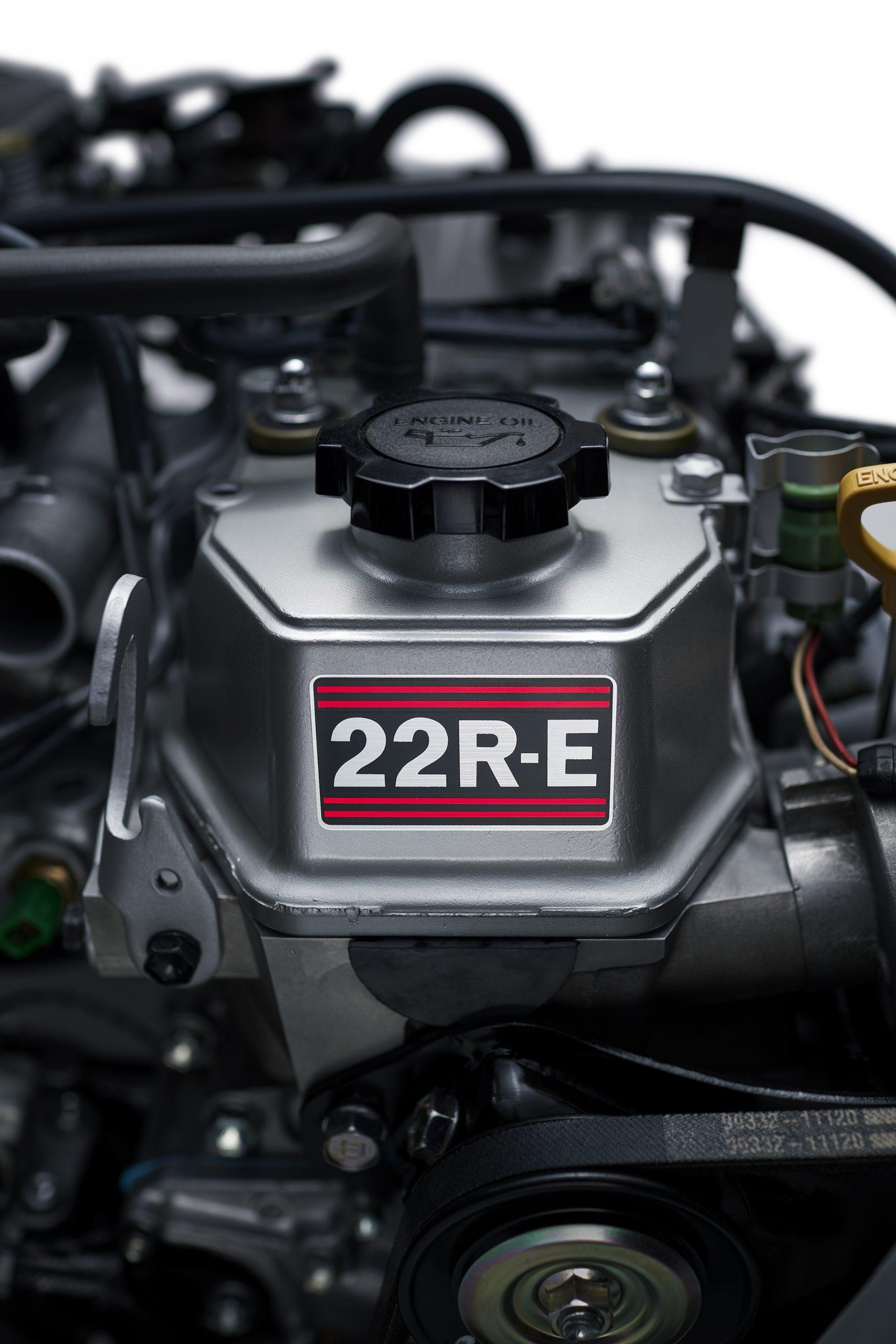 toyota 22R E engine sticker