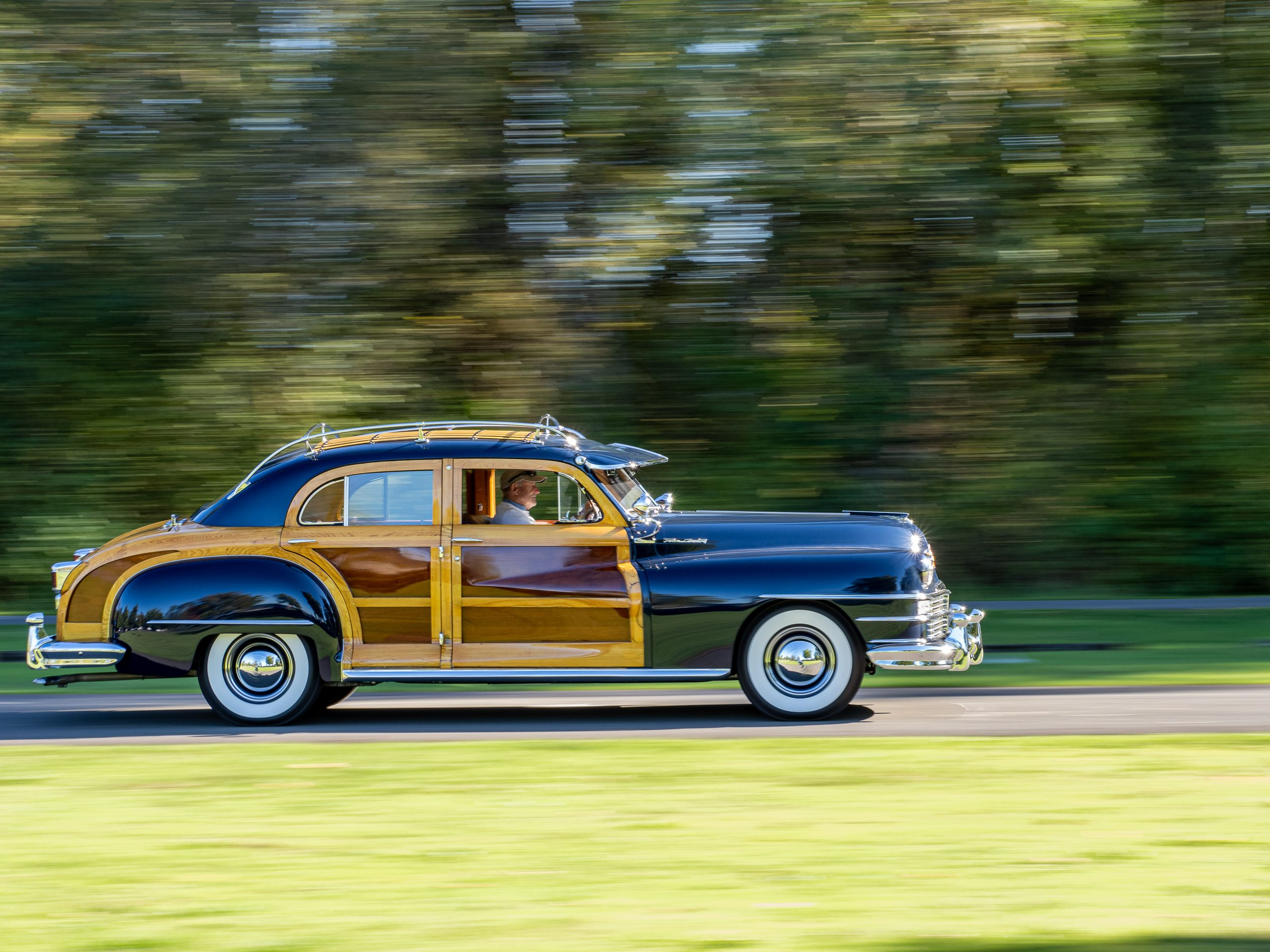 Al McEwan vintage car side profile action