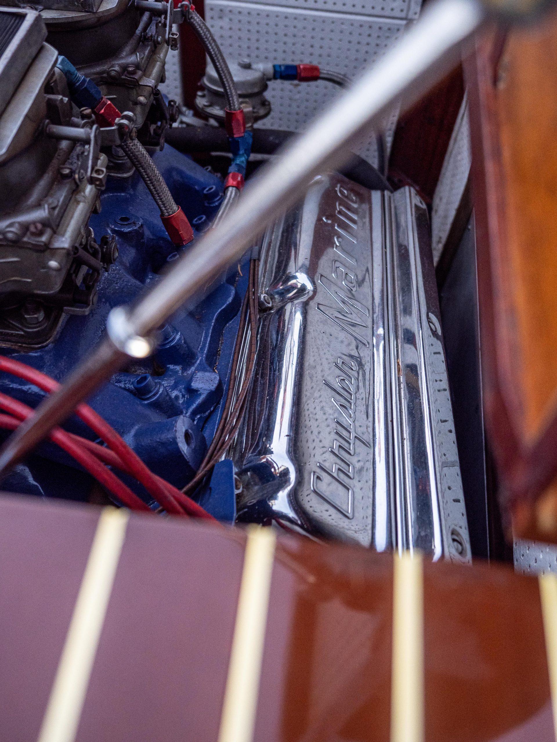 Al McEwan boat chrysler engine