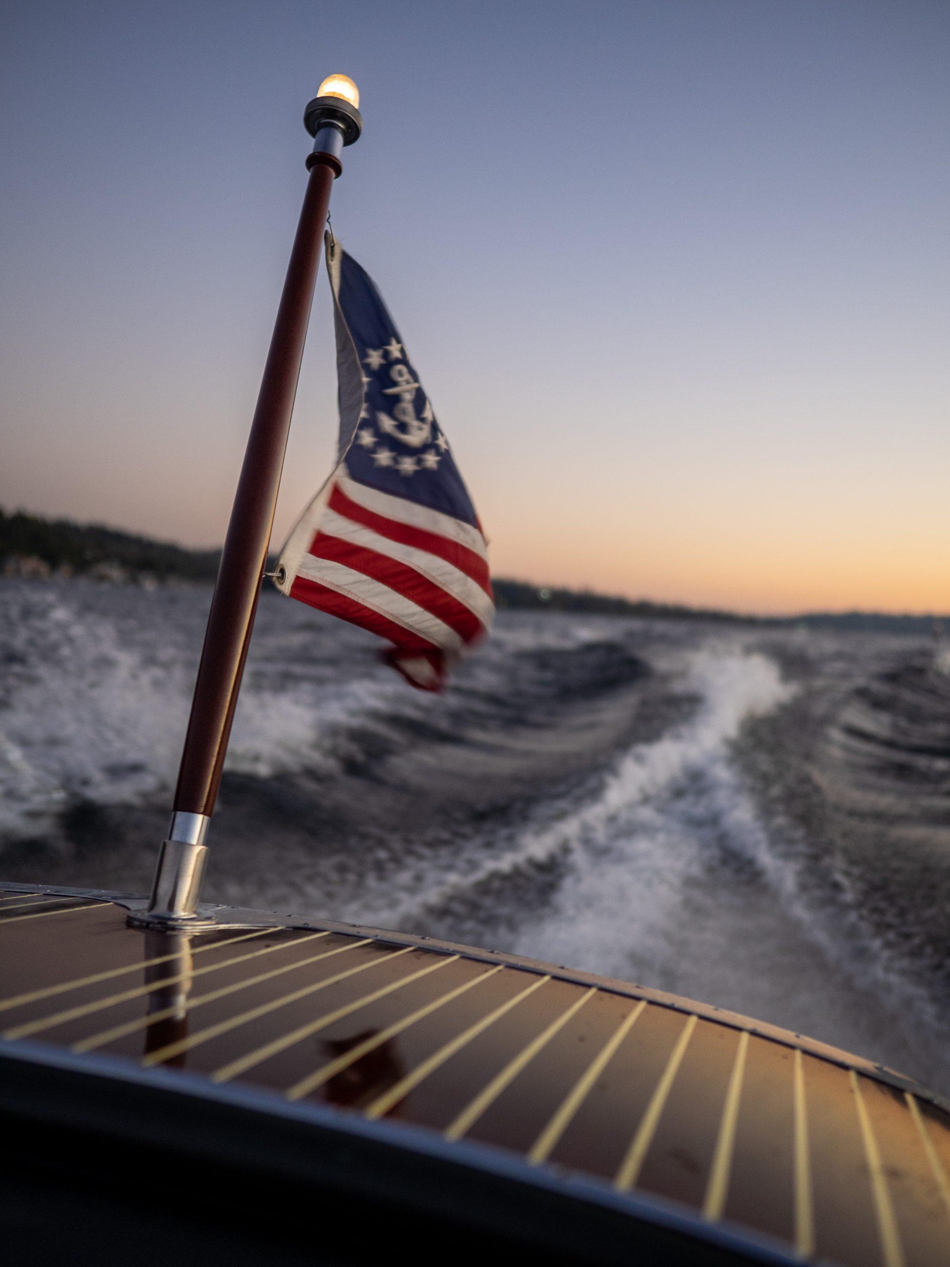 Al McEwan boat stern wake action