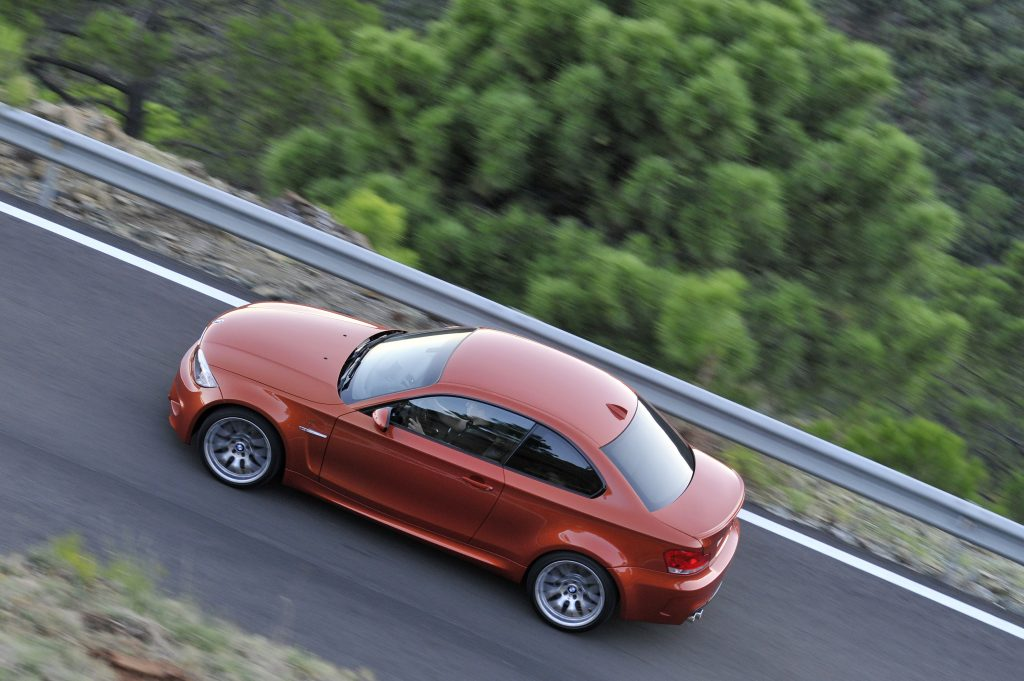 BMW 1 Series M Coupe side overhead