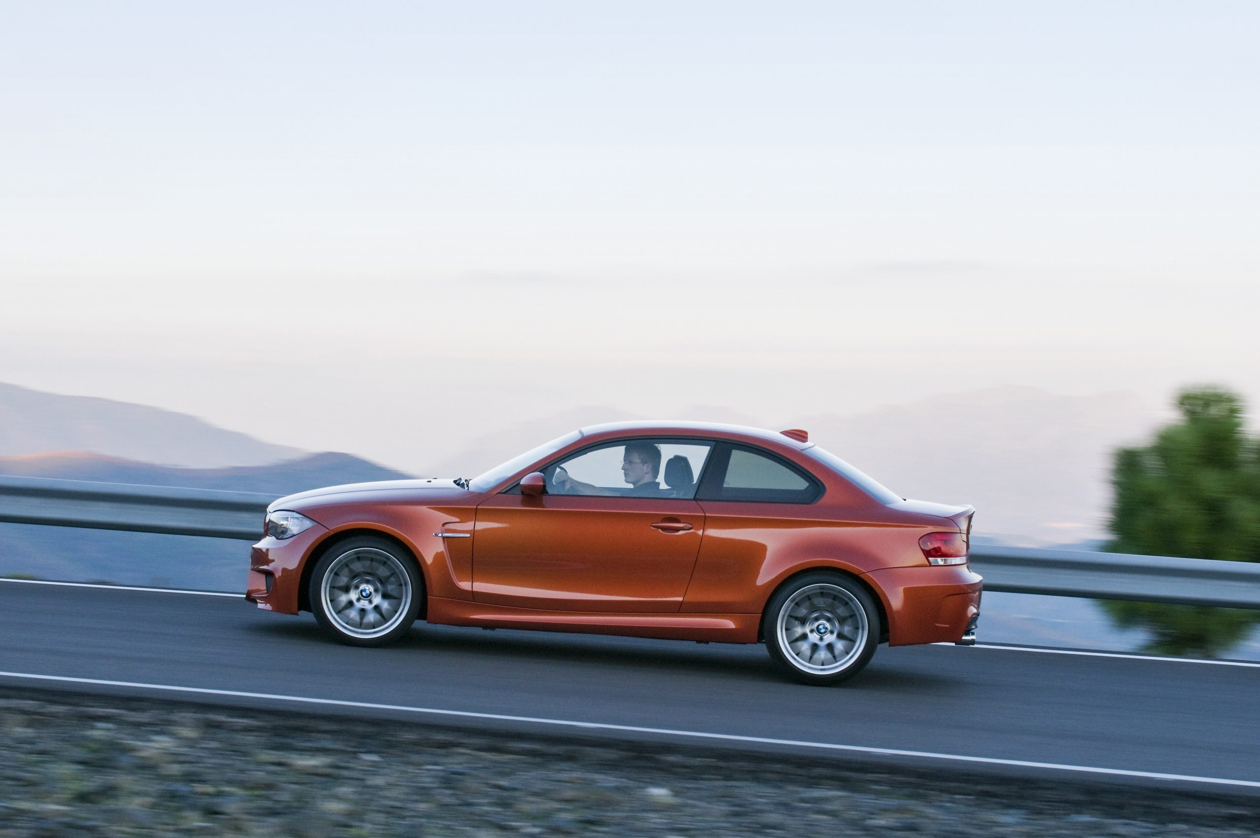 BMW 1 Series M Coupe side profile action