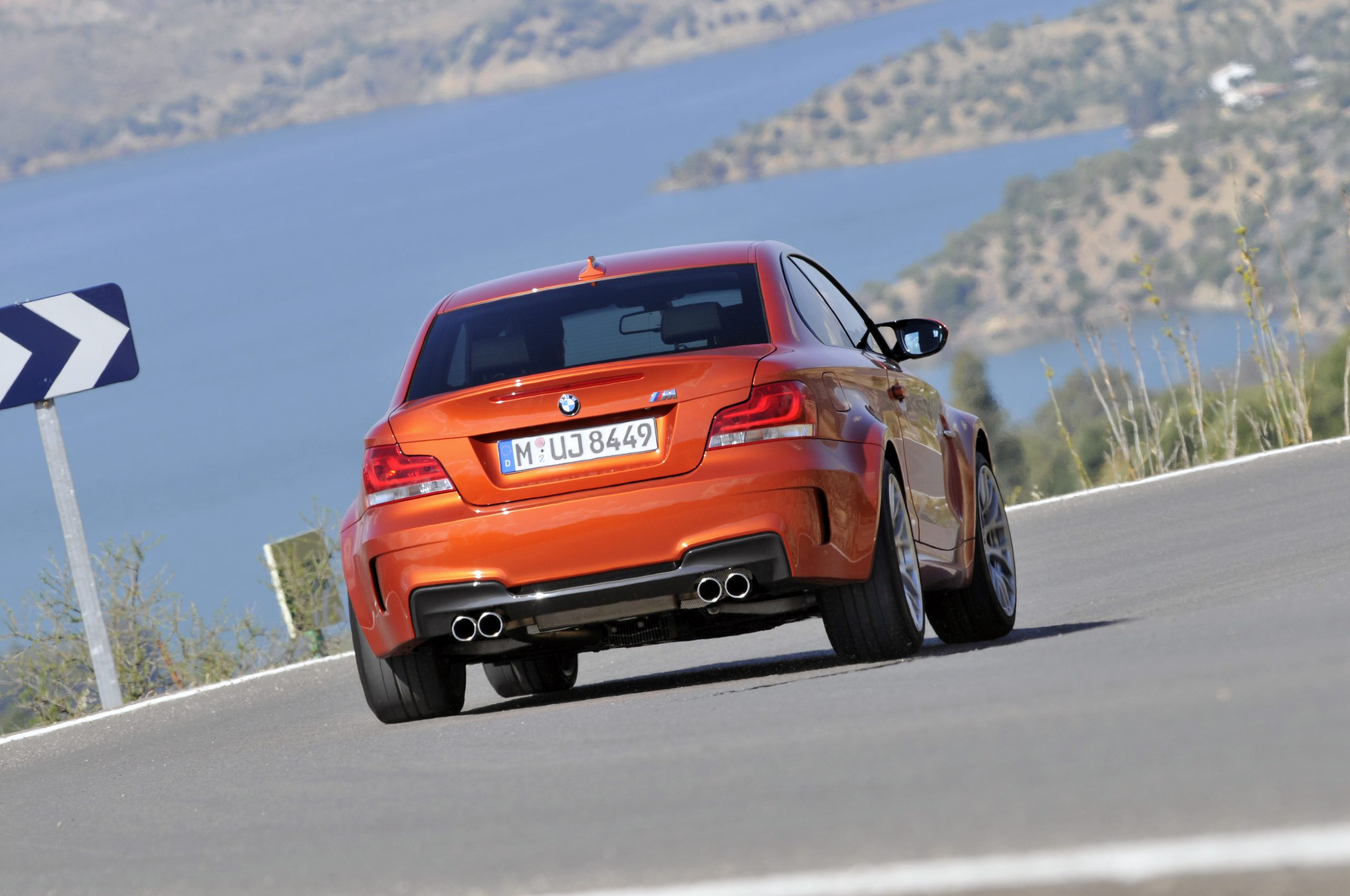 BMW 1 Series M Coupe rear action