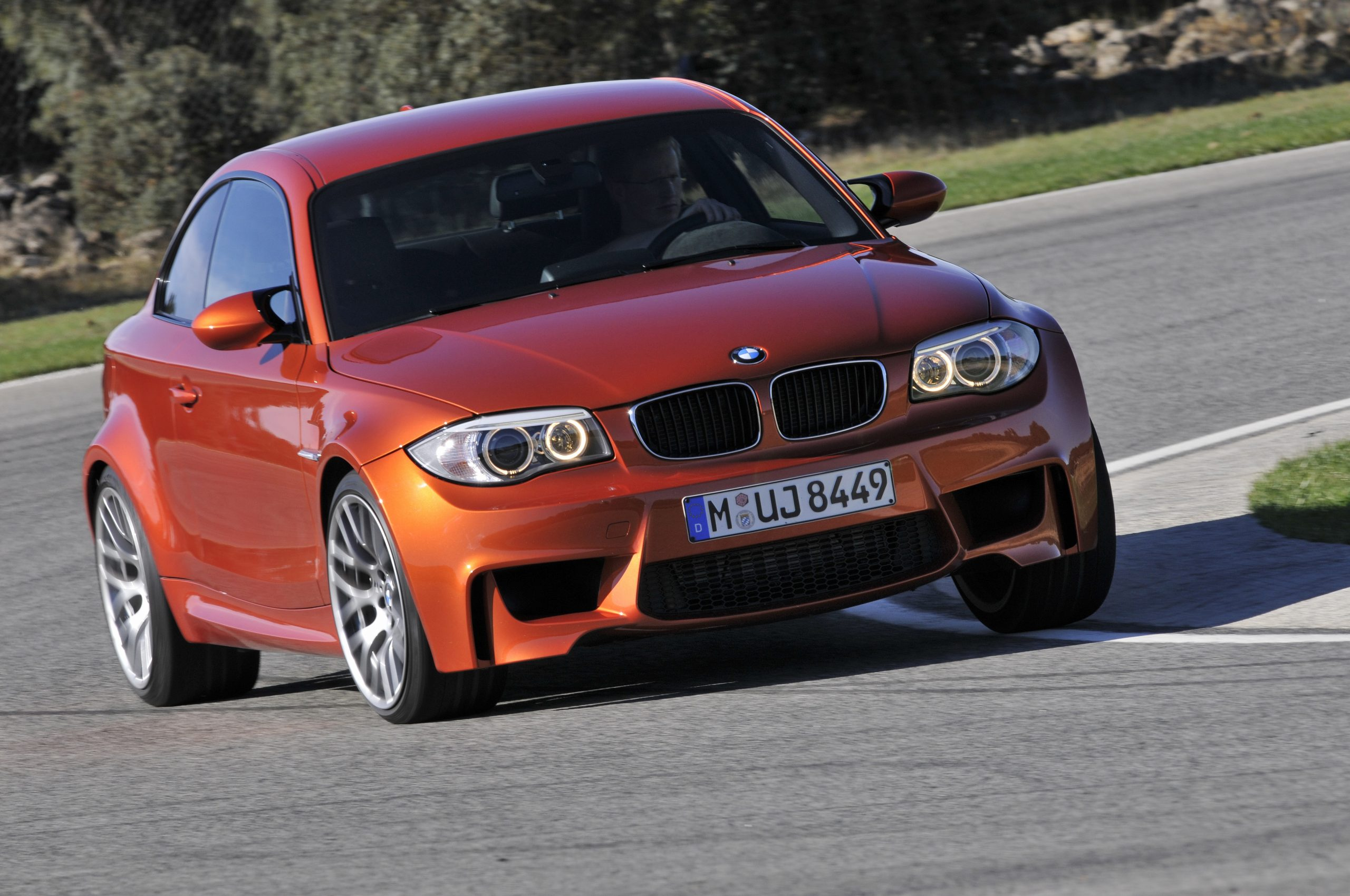 BMW 1 Series M Coupe front cornering action