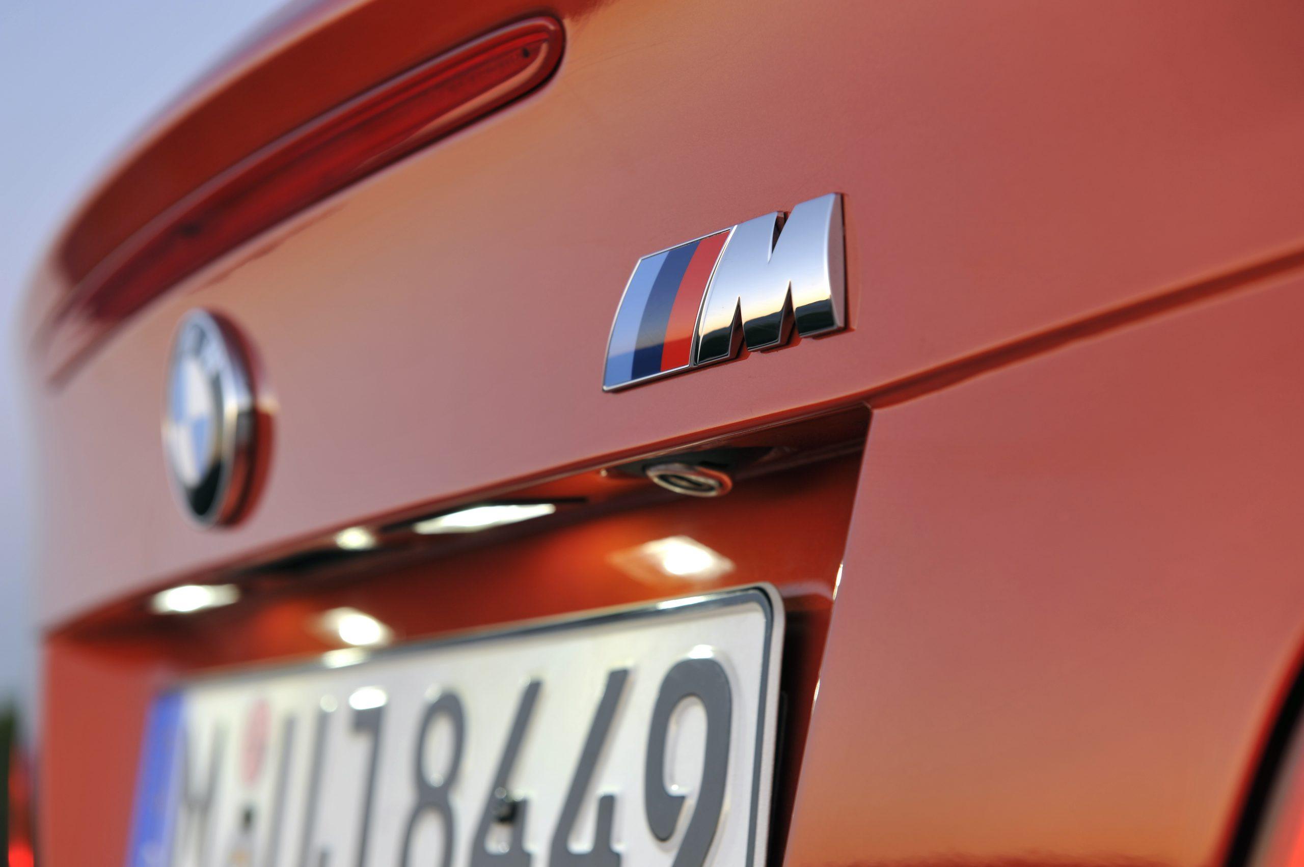 BMW 1 Series M Coupe rear logo