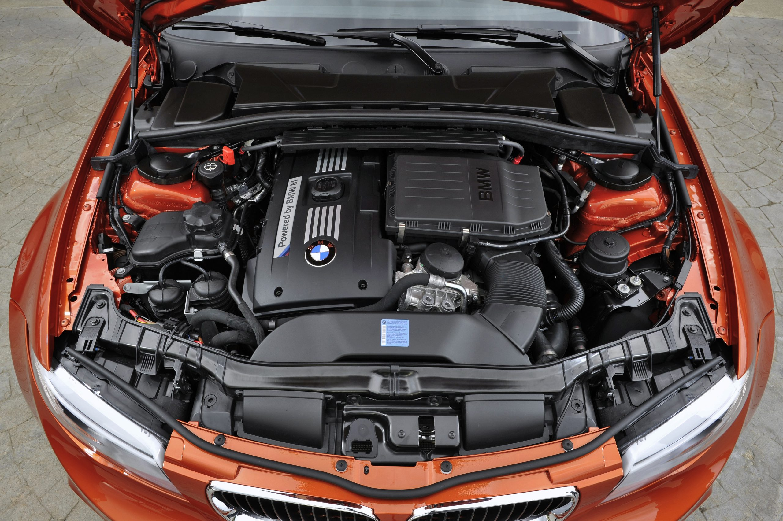 BMW 1 Series M Coupe engine bay