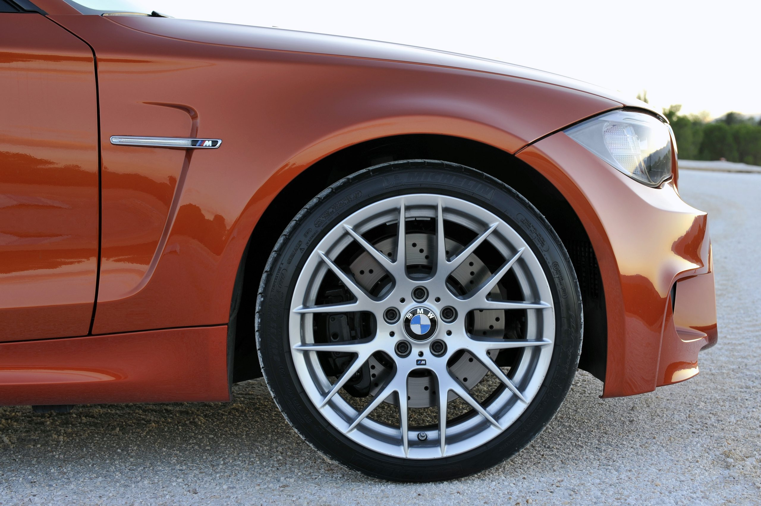BMW 1 Series M Coupe front end side profile
