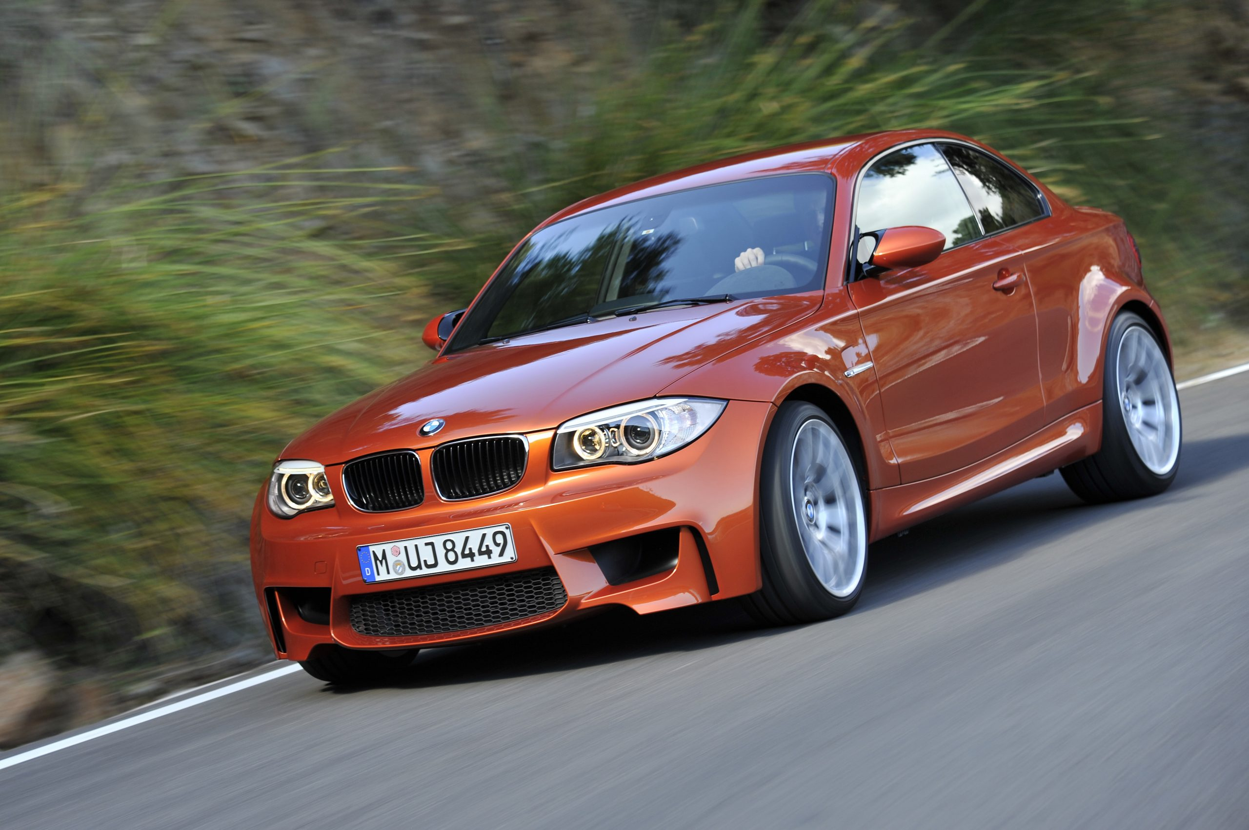BMW 1 Series M Coupe front three-quarter action