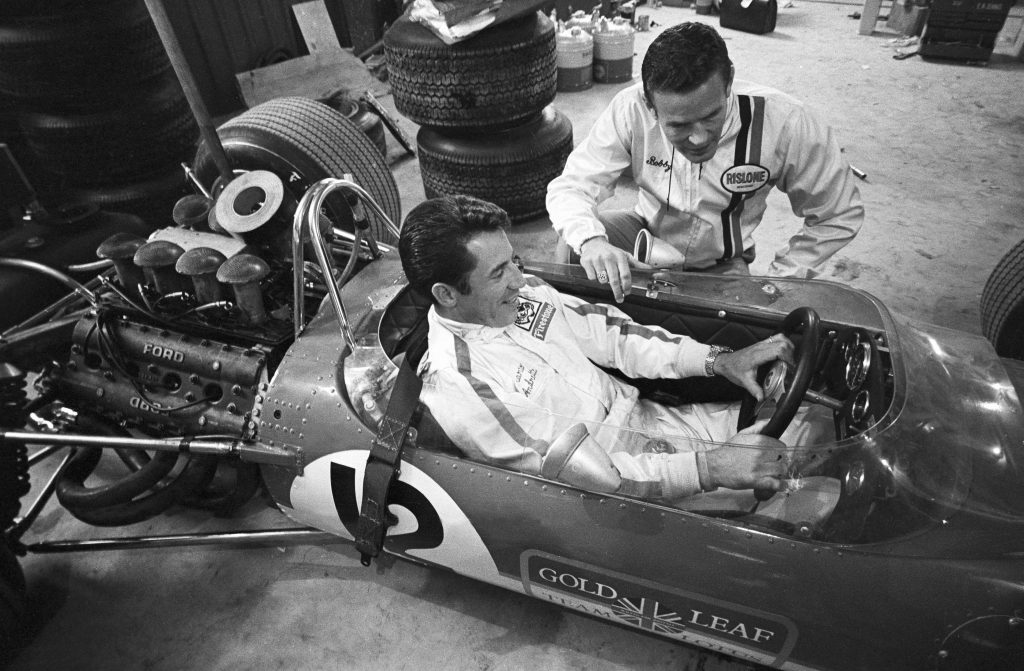 Mario Andretti and Bobby Unser Before Racing