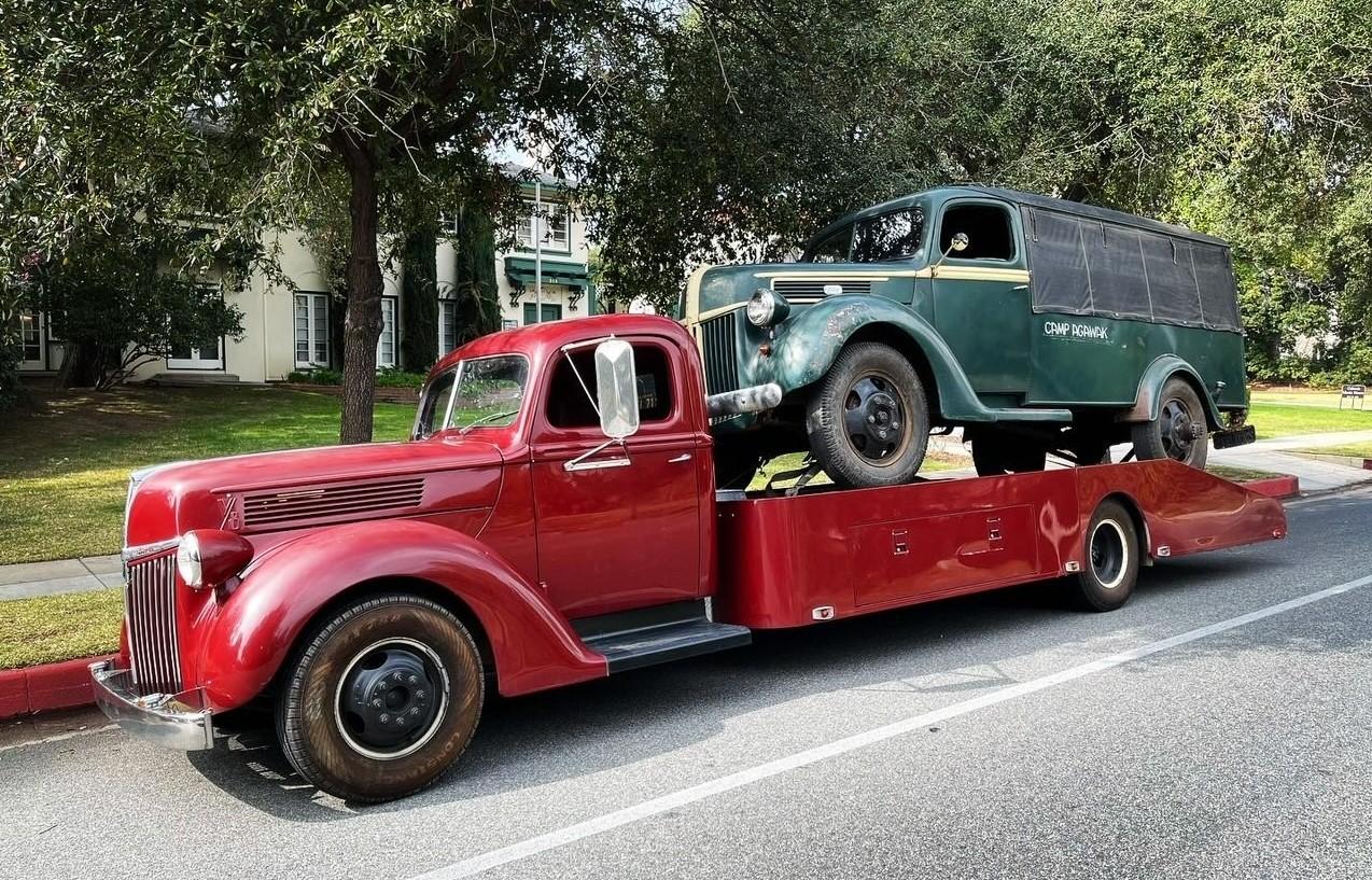 Camp Agawak 1941 Ford truck on vintage trailer