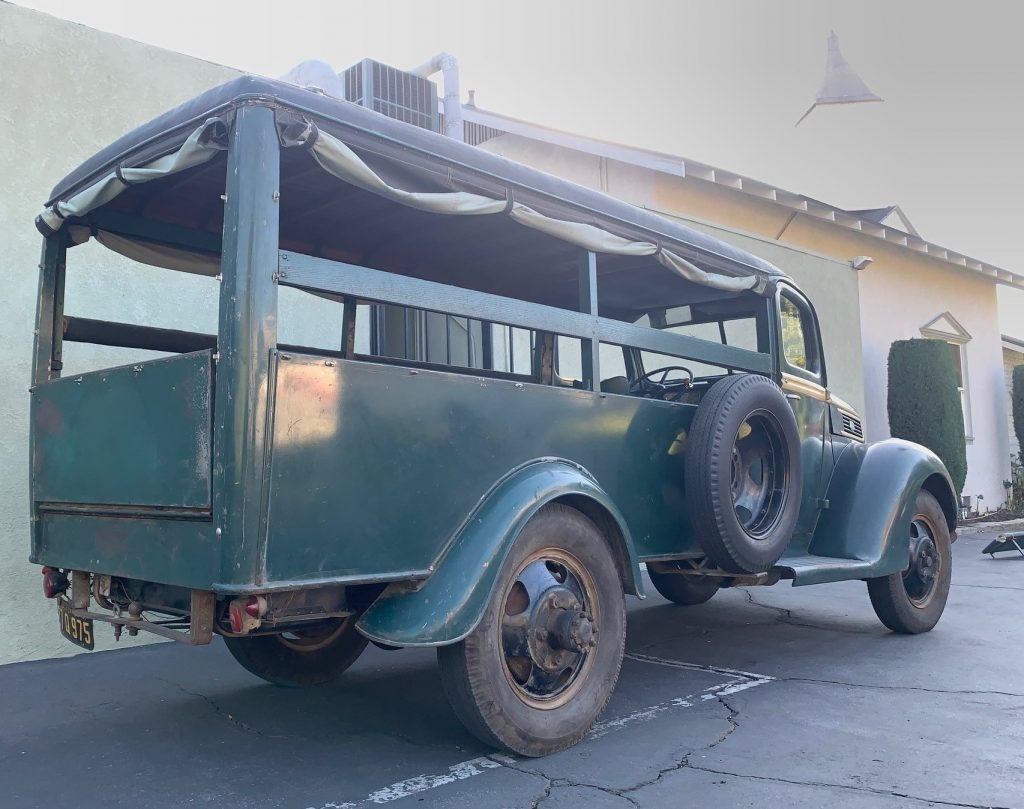 Camp Agawak 1941 Ford truck - full rear passenger side
