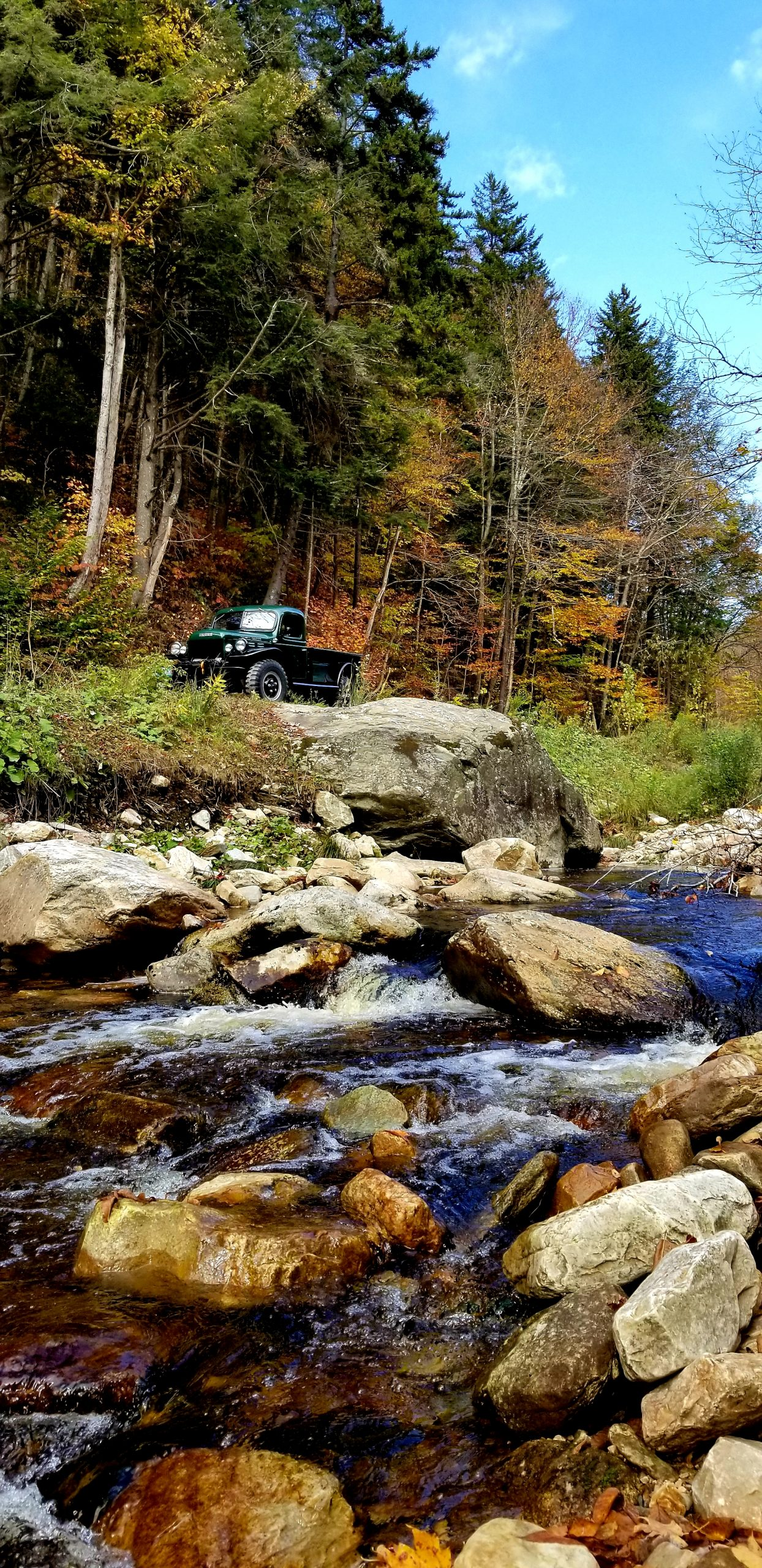 1956 Dodge Power Wagon mountain river