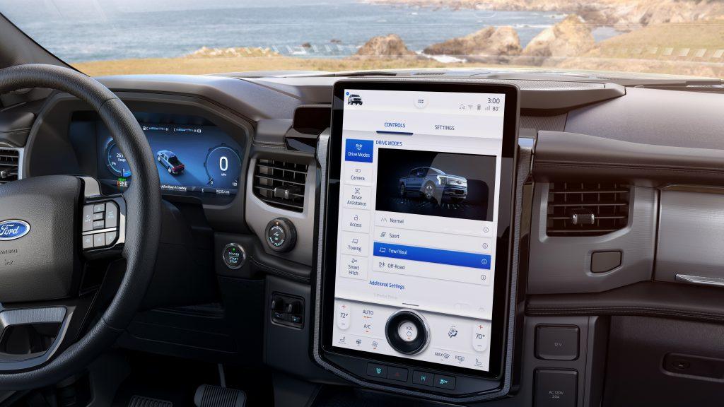 Ford F-150 Lightning EV interior dash control panel