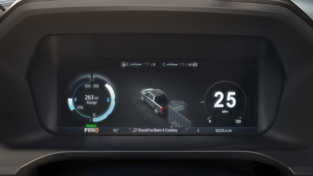 Ford F-150 Lightning EV digital dash display