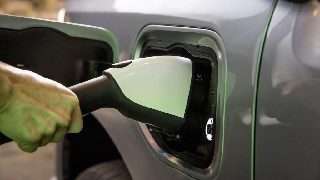 Ford F-150 Lightning EV charging port