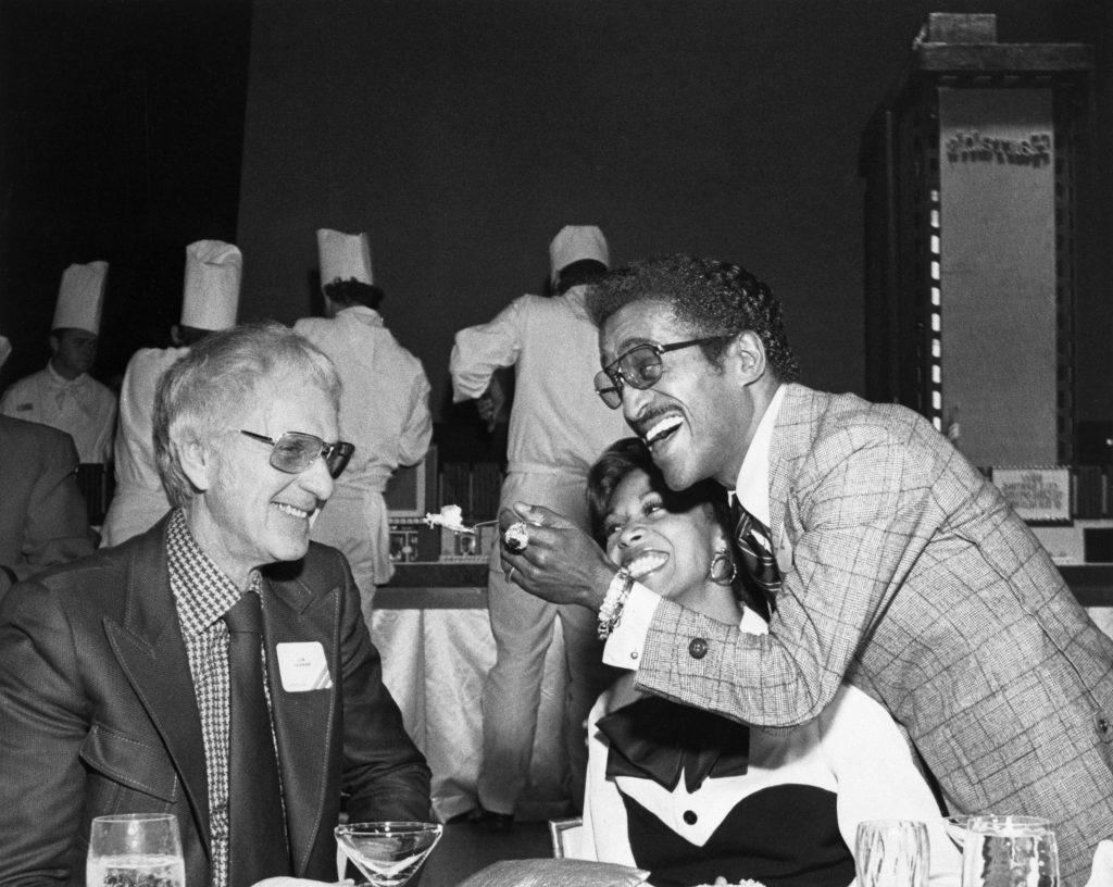 Sammy Davis Jr. and Bill Harrah at Hotel Dedication