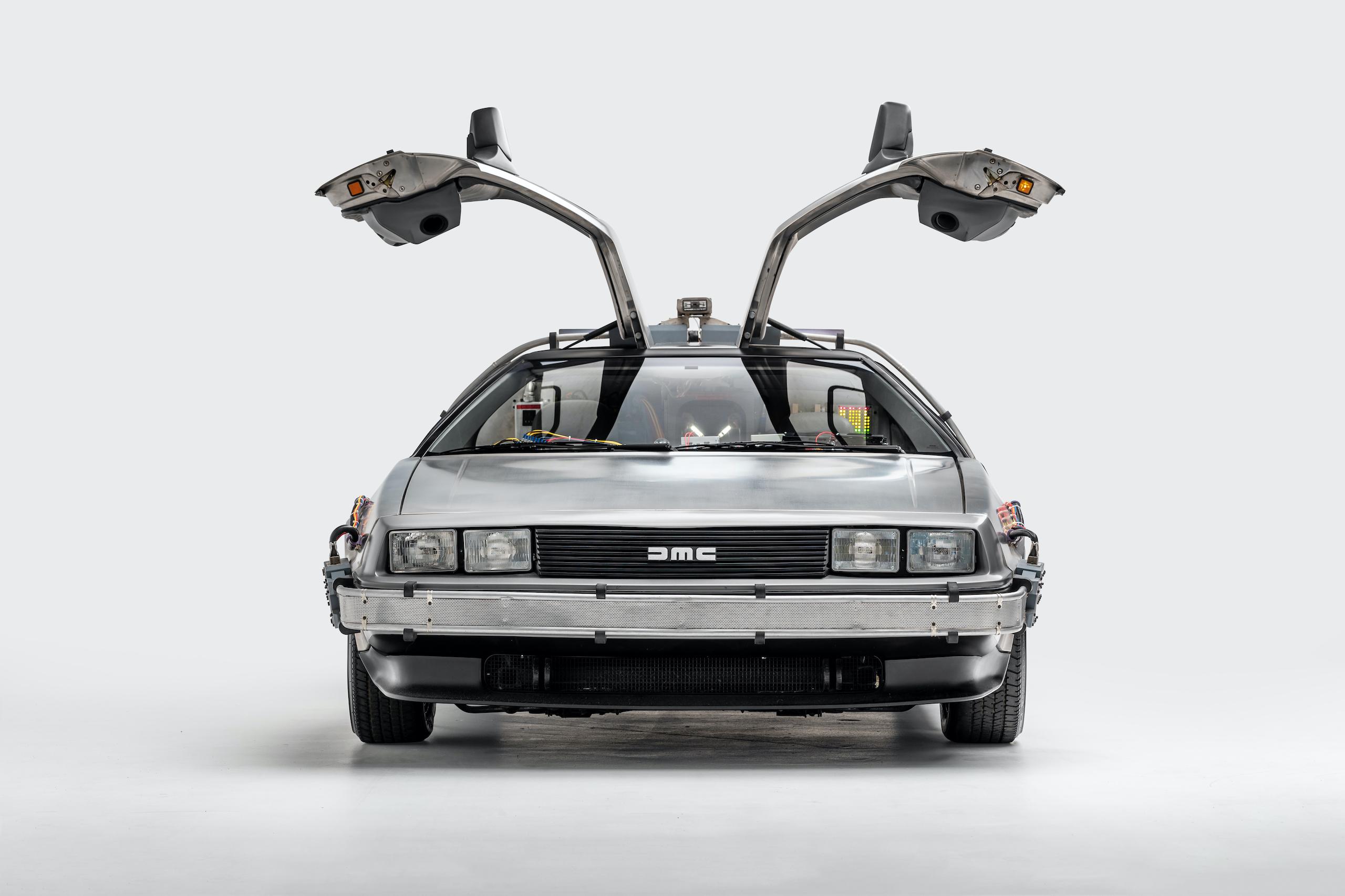 Back to Future DeLorean front open doors
