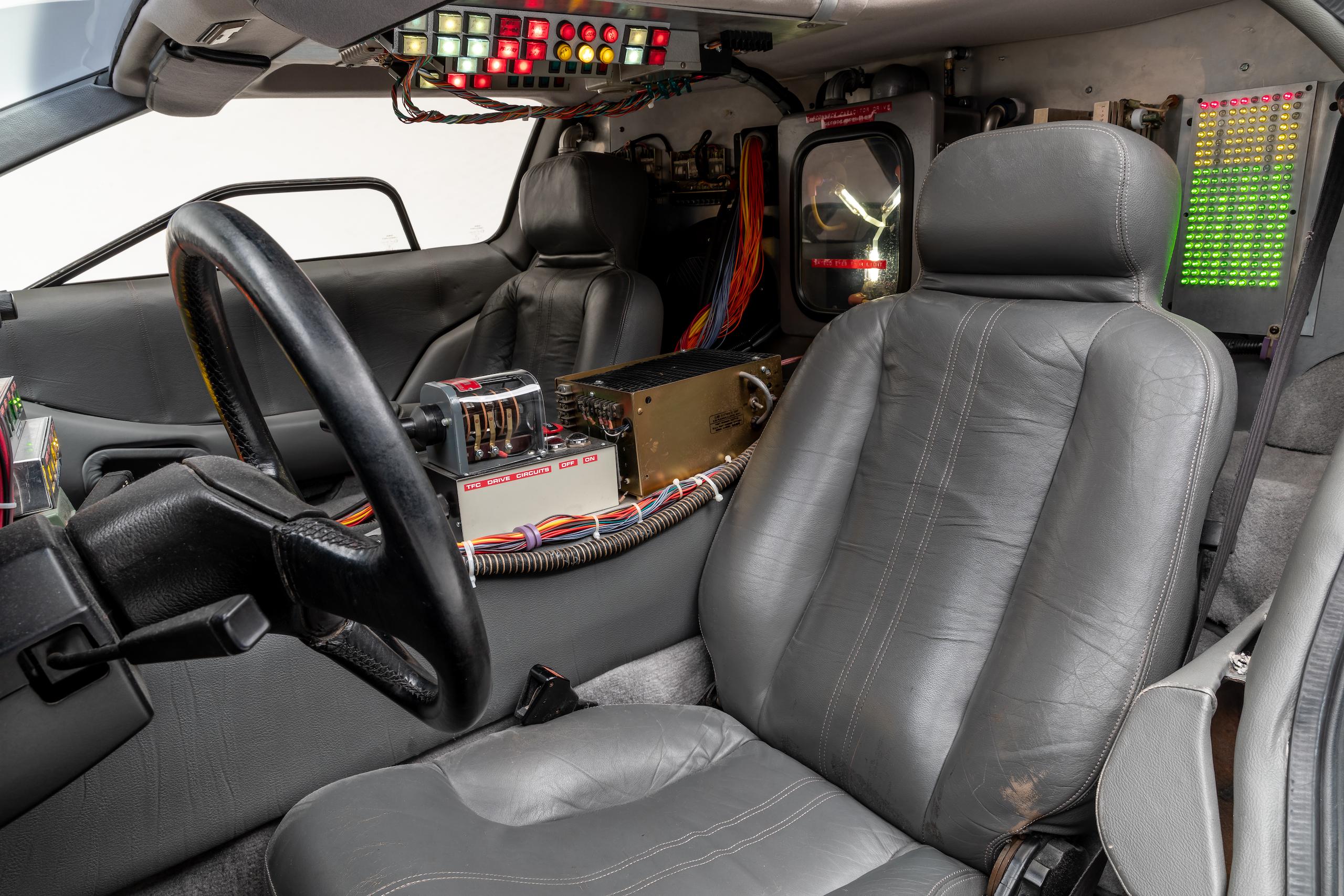Back to Future DeLorean interior