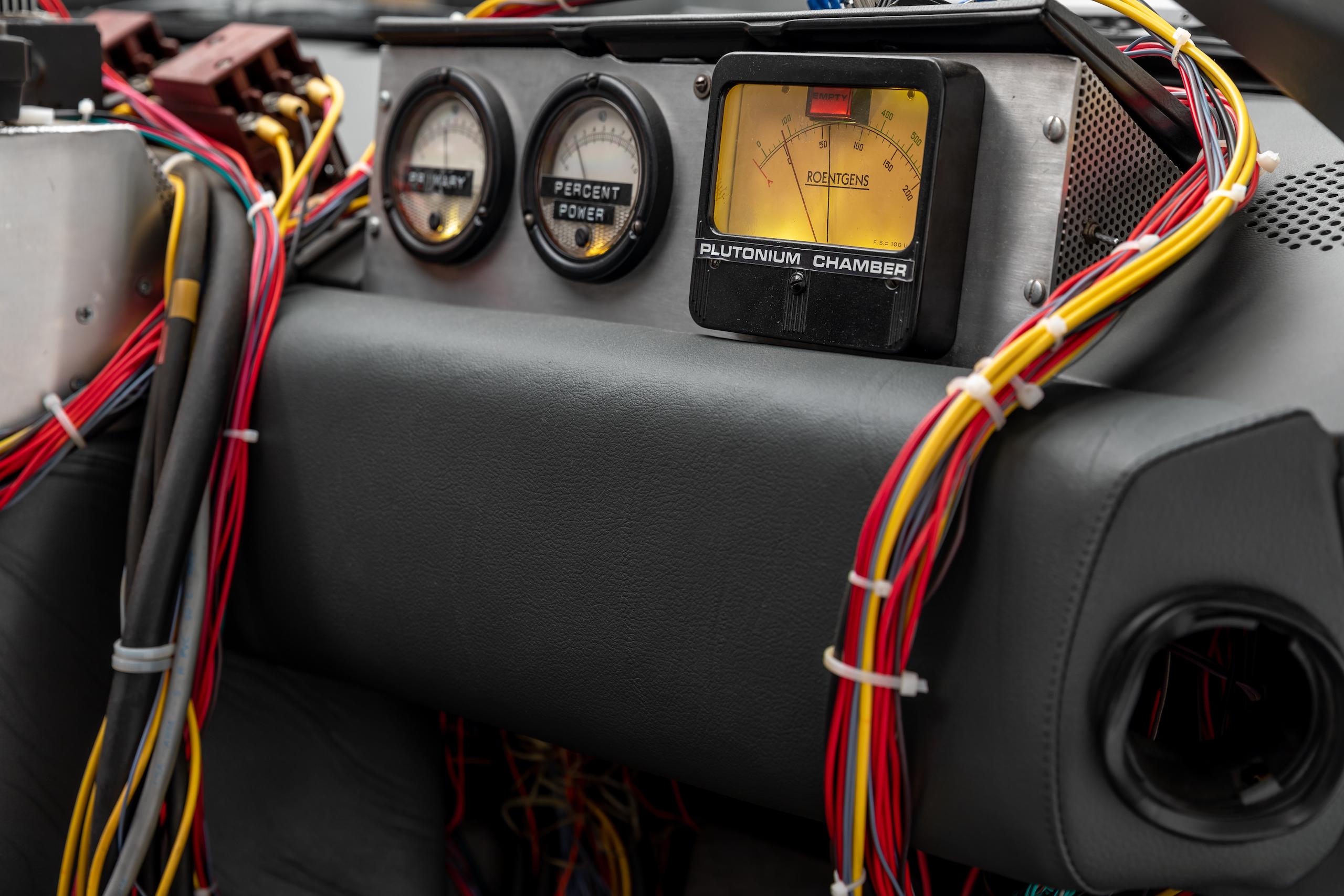 Back to Future DeLorean interior gauges