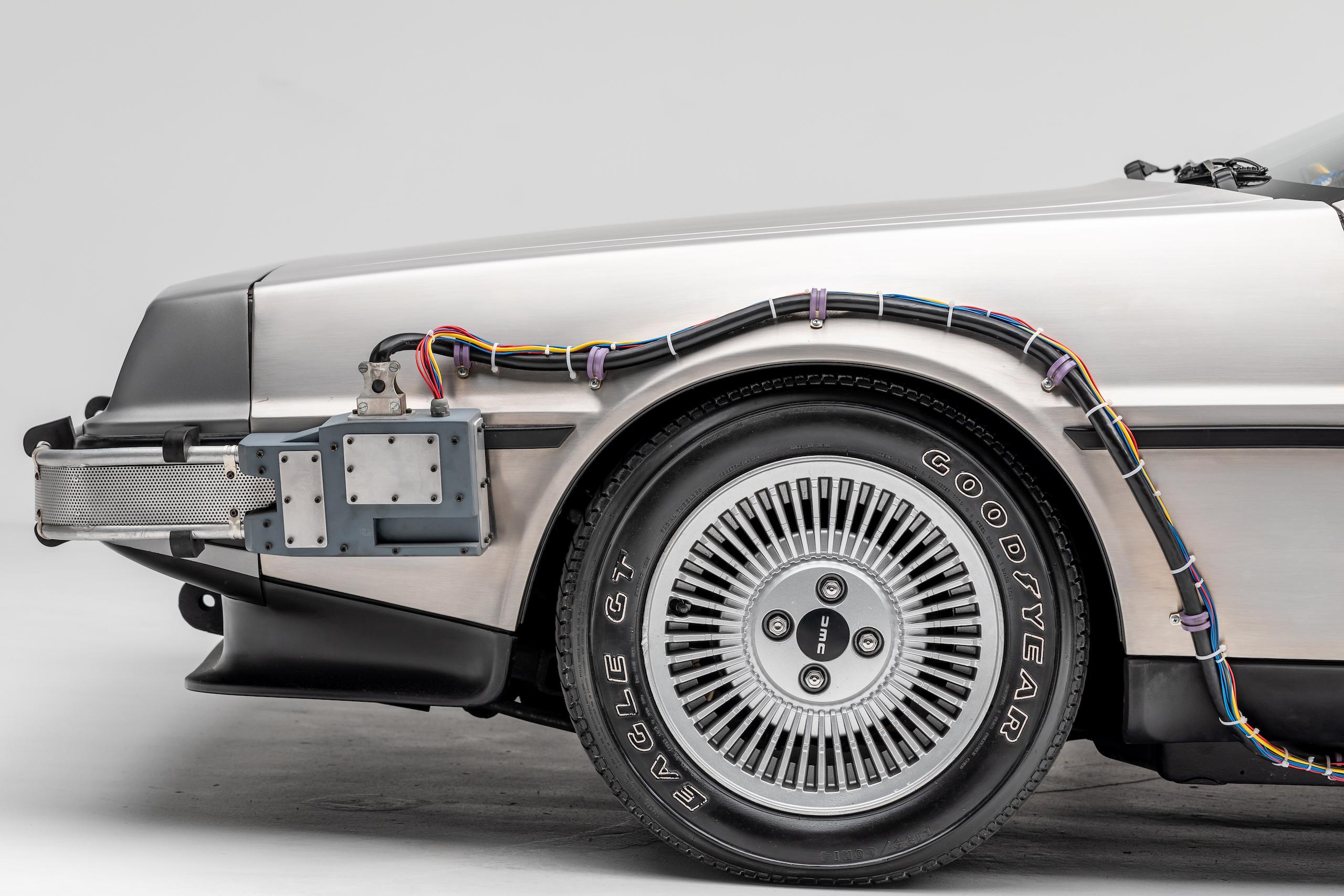 Back to Future DeLorean front half side profile