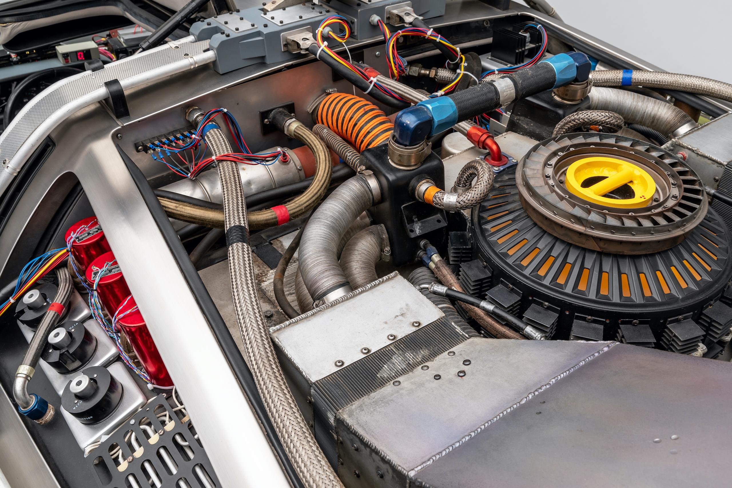 Back to Future DeLorean rear engine detail