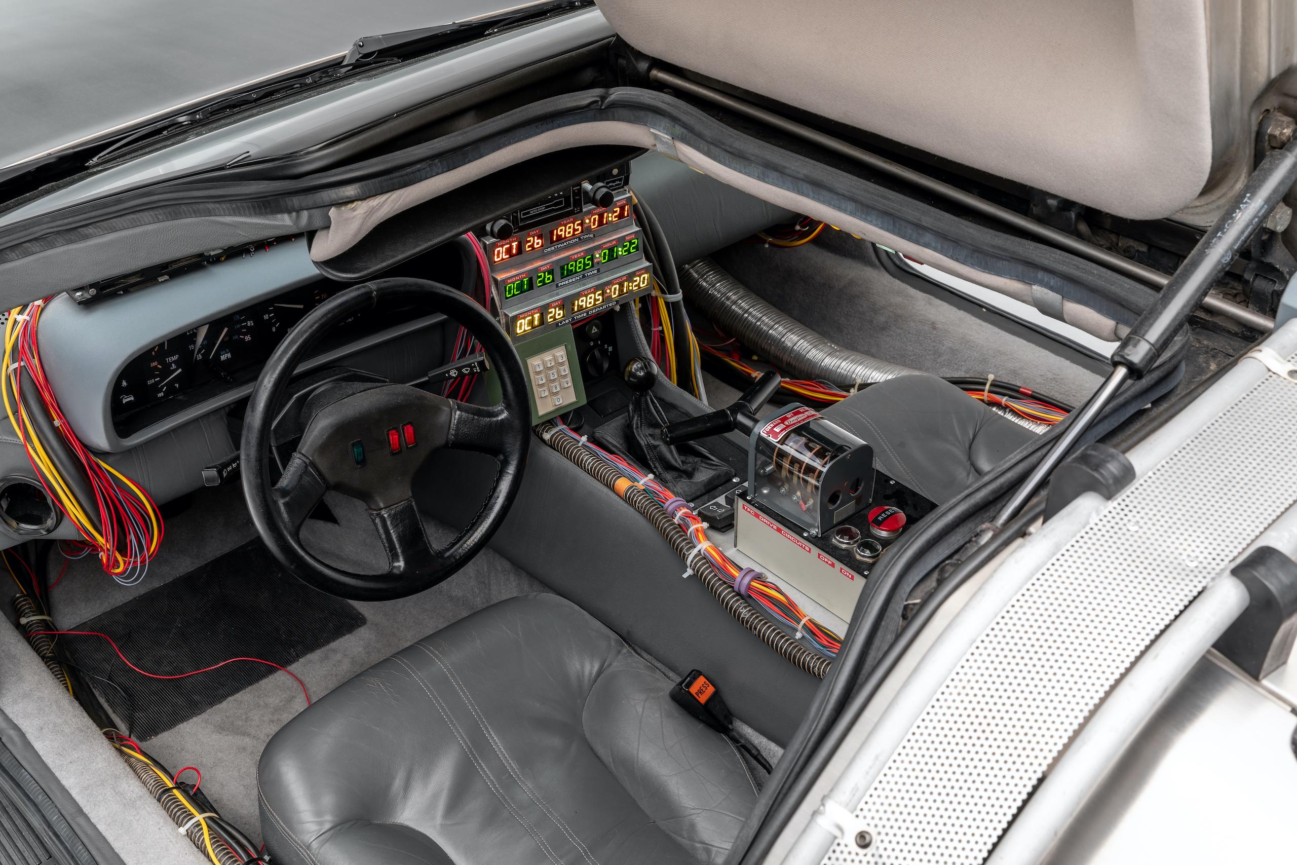 Back to Future DeLorean interior overhead