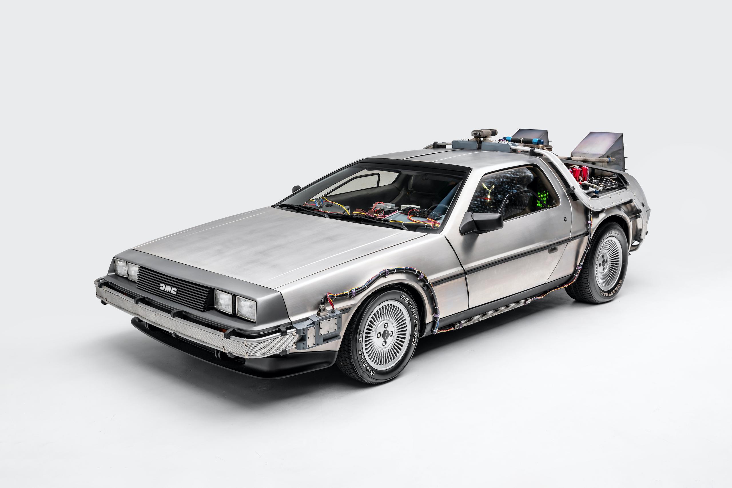 Back to Future DeLorean front three-quarter