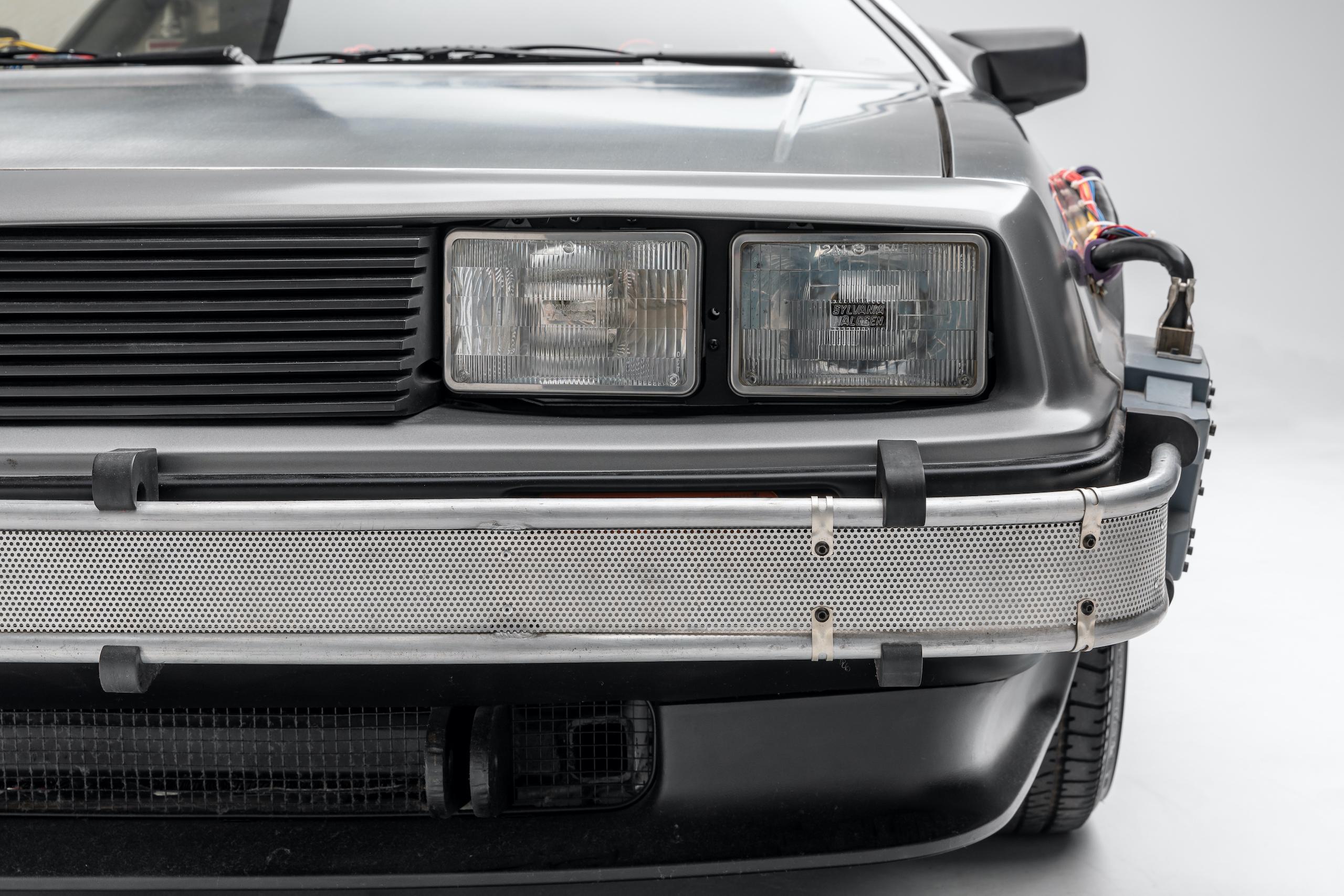 Back to Future DeLorean headlight detail