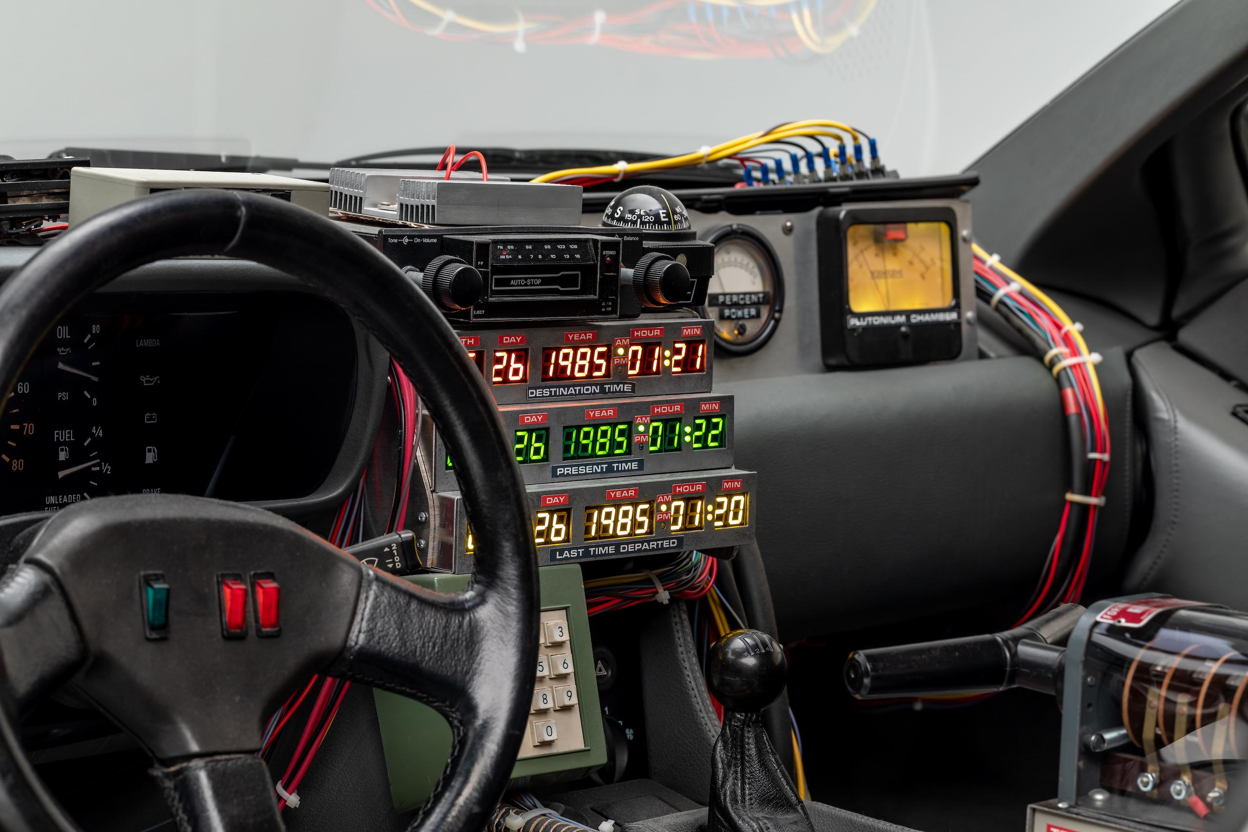 Back to Future DeLorean interior dash