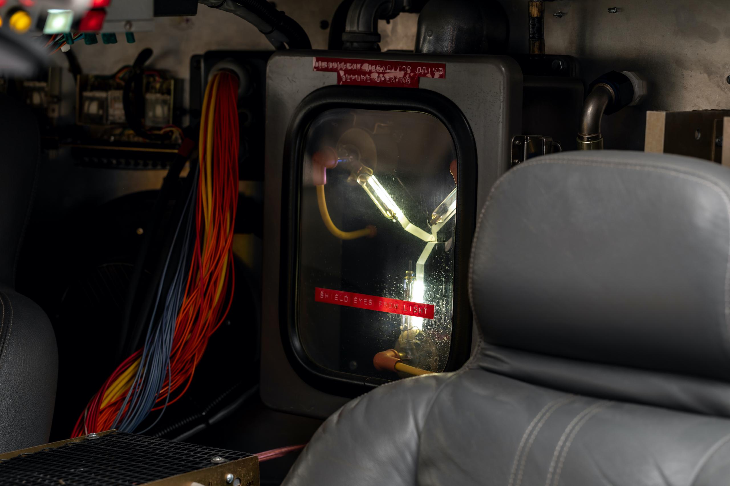 Back to Future DeLorean interior movie prop