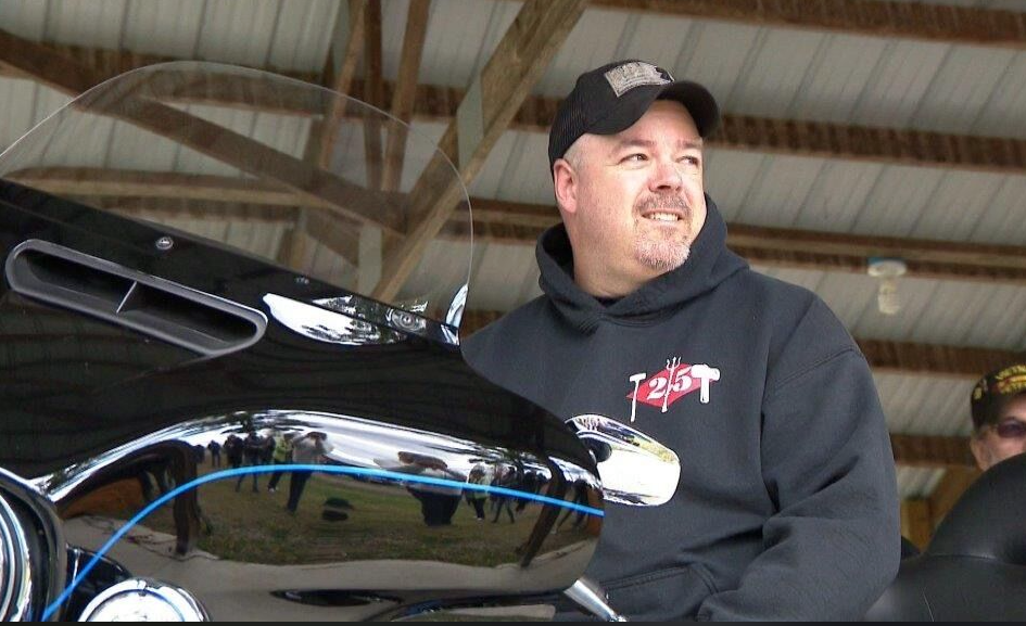 Hogs for Heroes Harley Davidson motorcycle