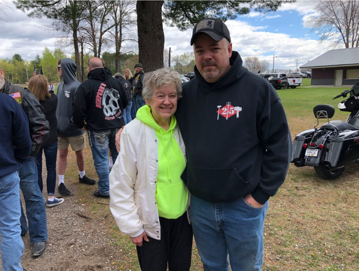 Hogs for Heroes recipient and mother