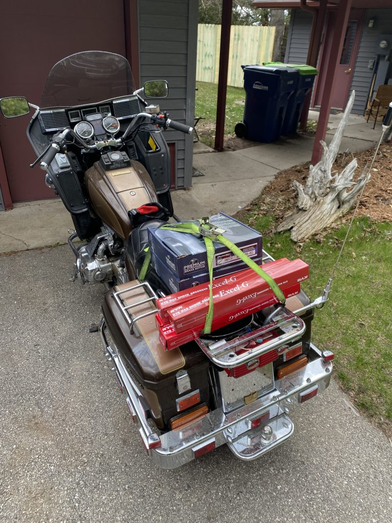 Goldwing parts hauler