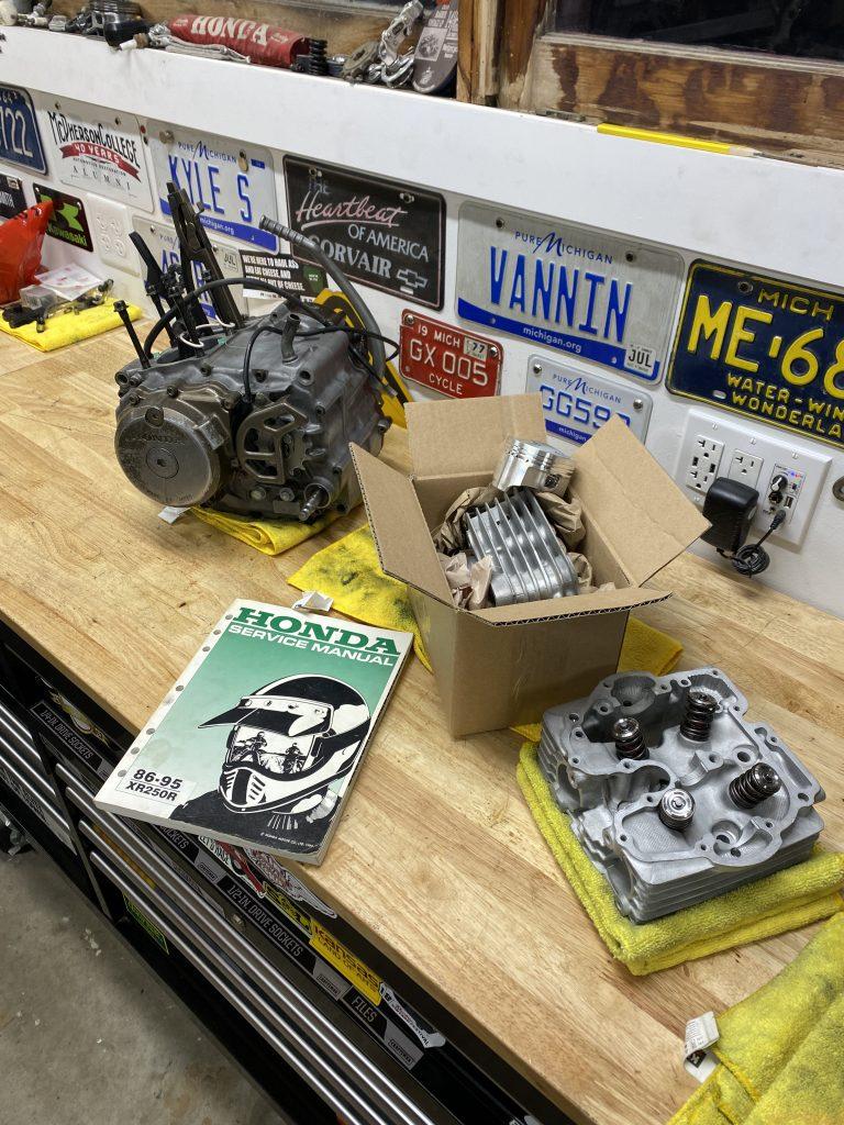 XR250 Engine almost together