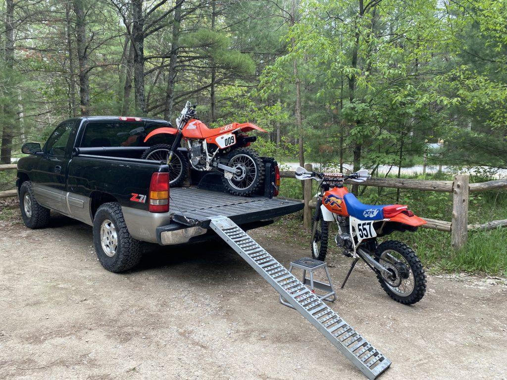 Silverado and Honda XRs