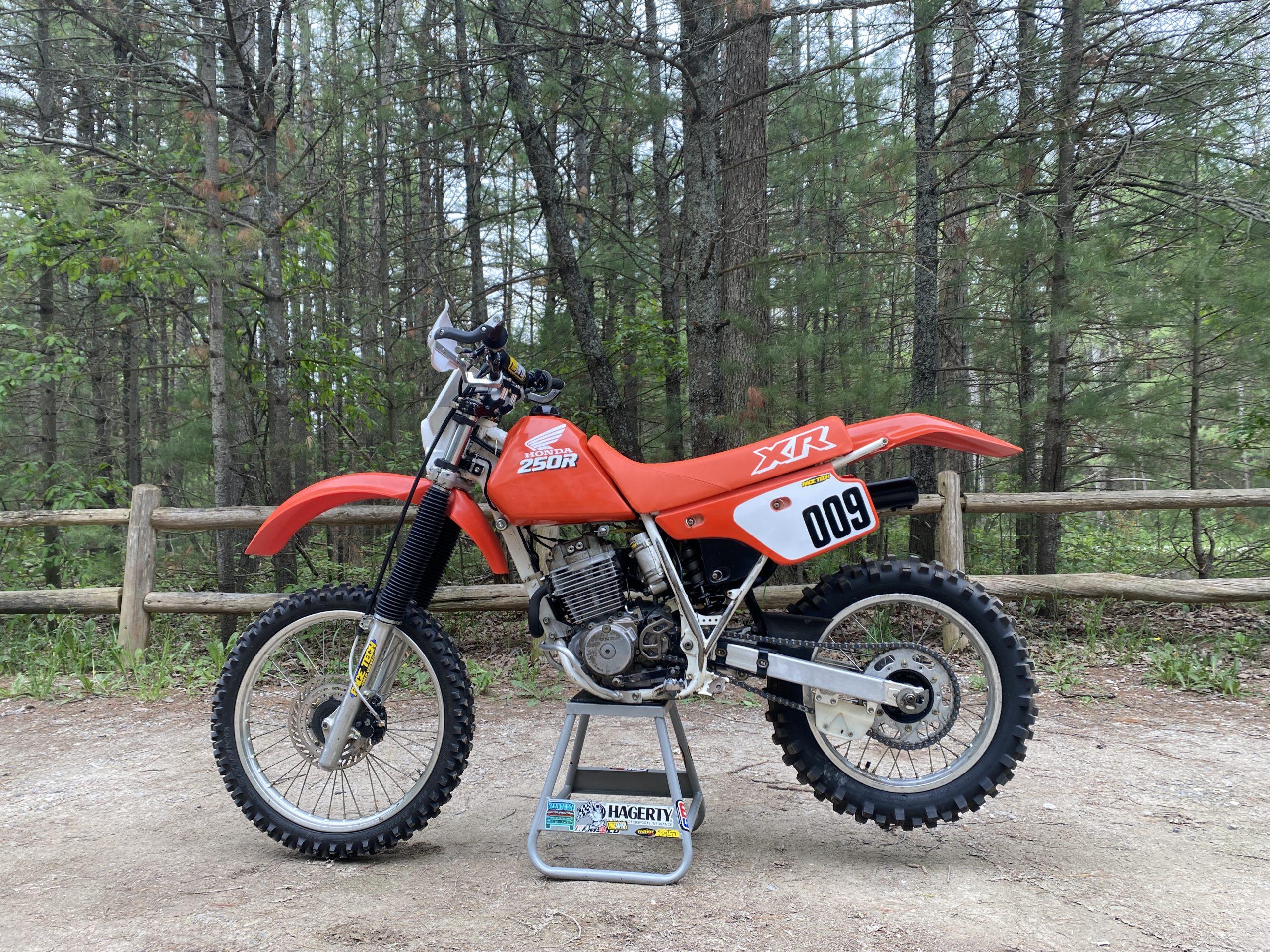 Honda XR250R left side completed
