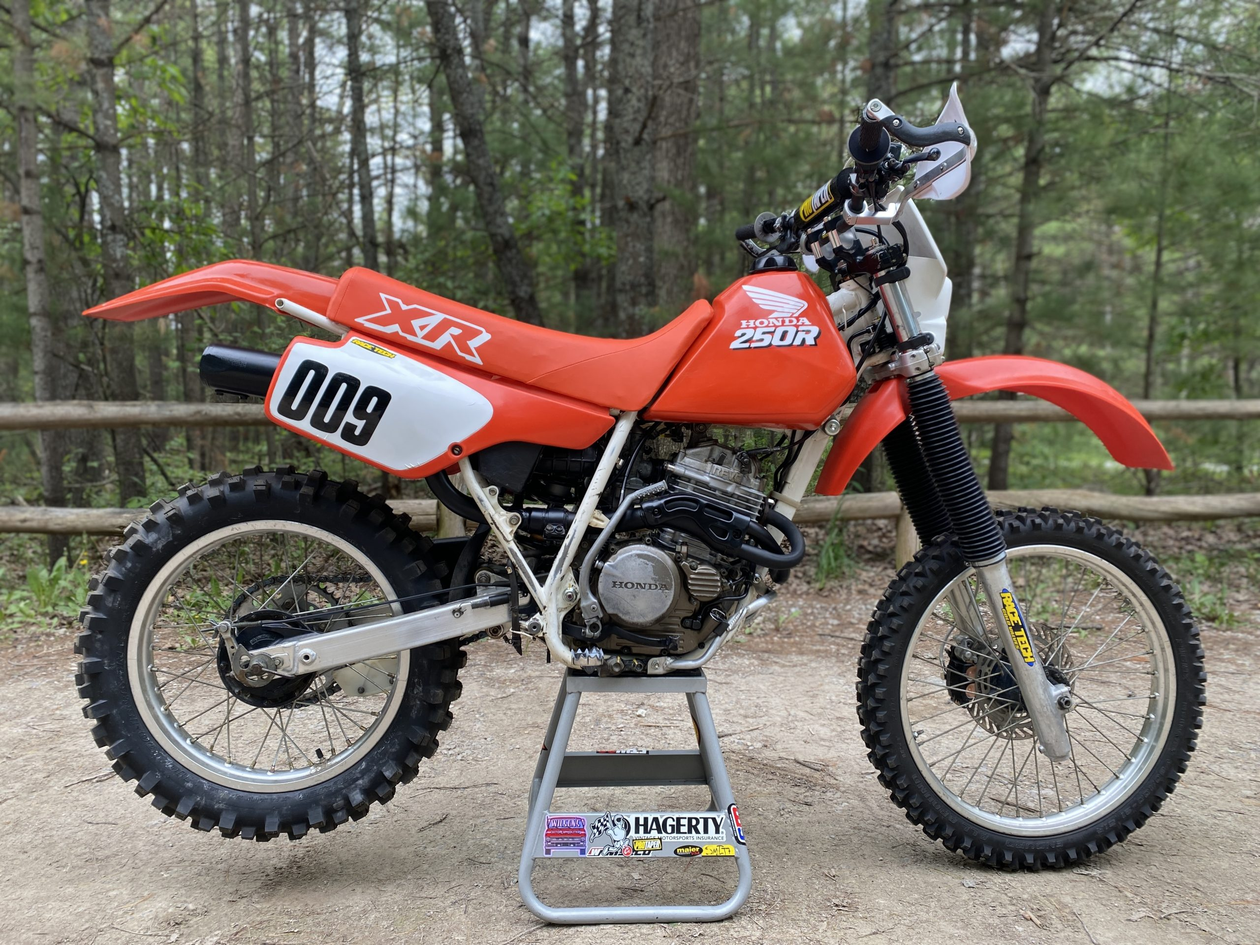 Honda XR250R right side completed