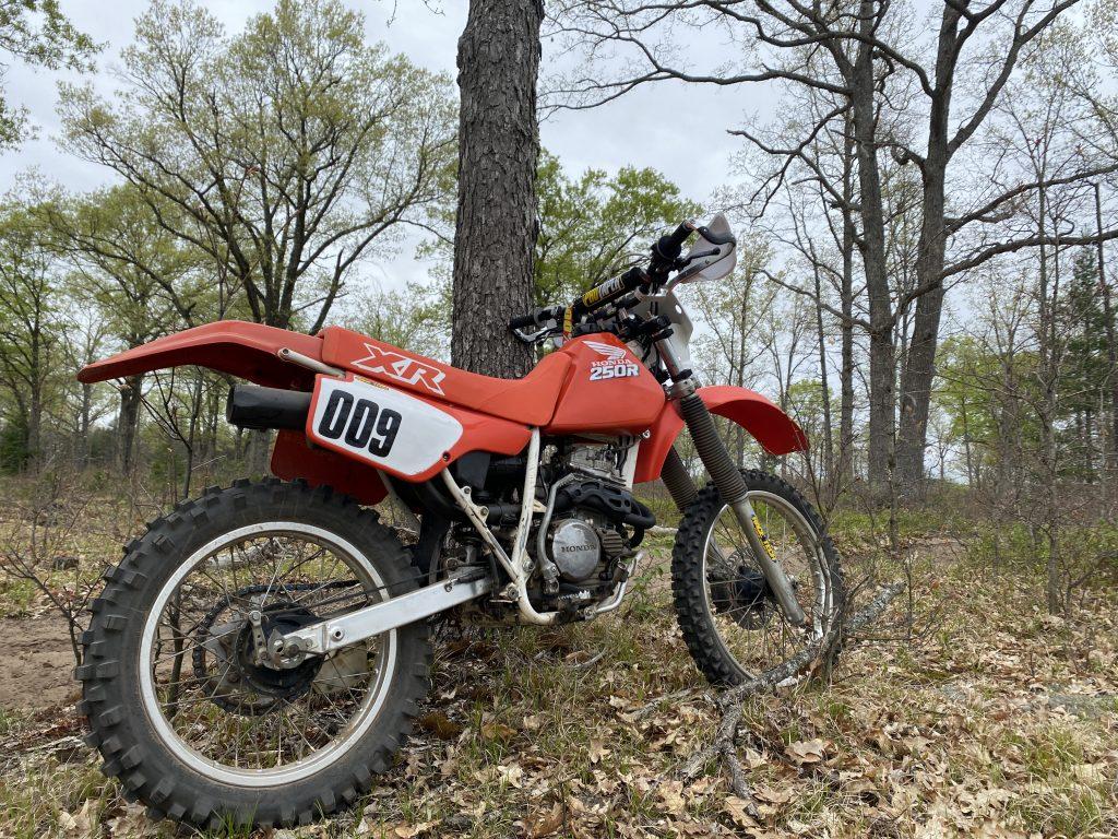 Honda XR250R on trail