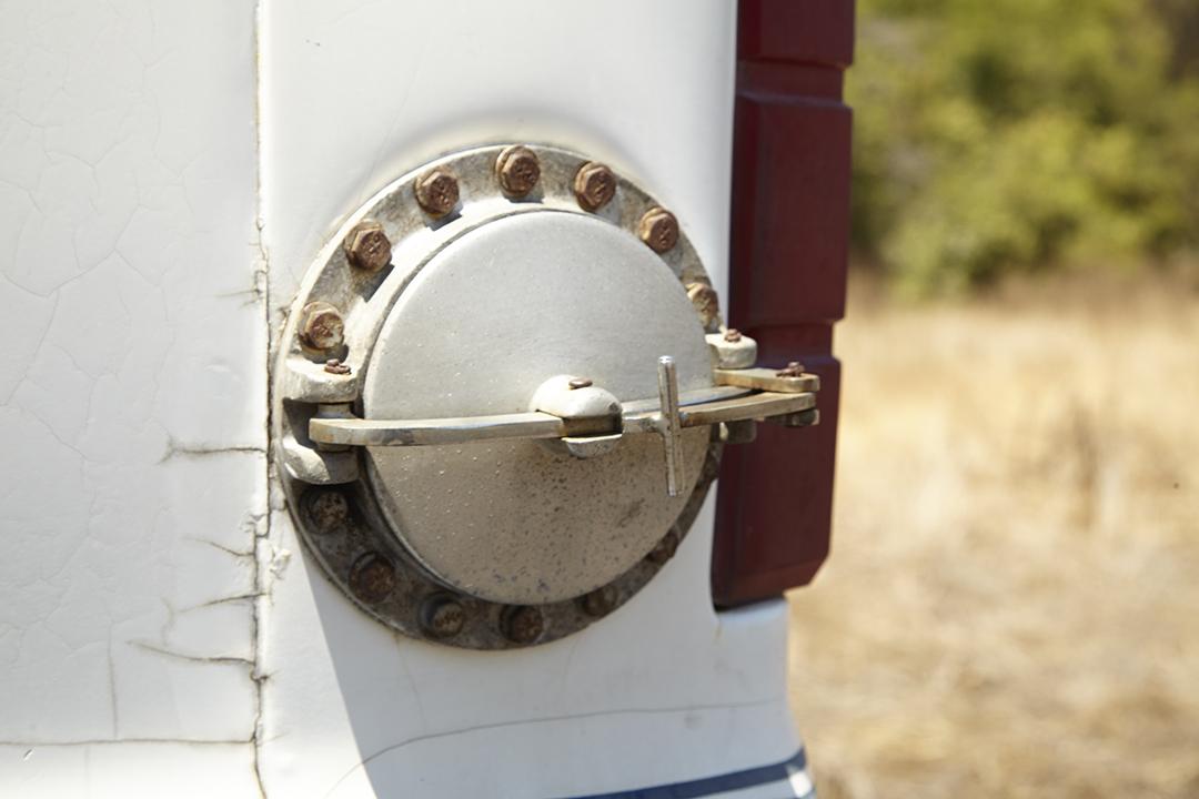 Deans Machine Van fuel cap door