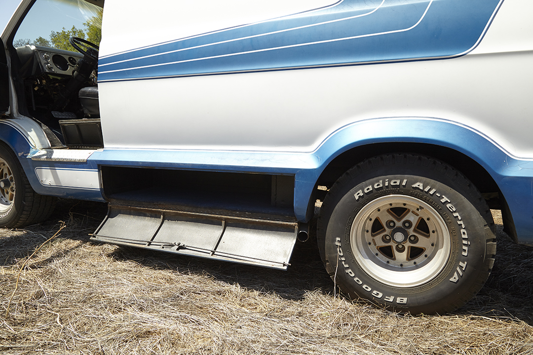Deans Machine Van cargo side space