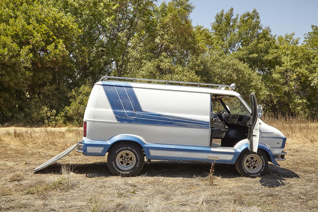 Deans Machine Van side profile doors open
