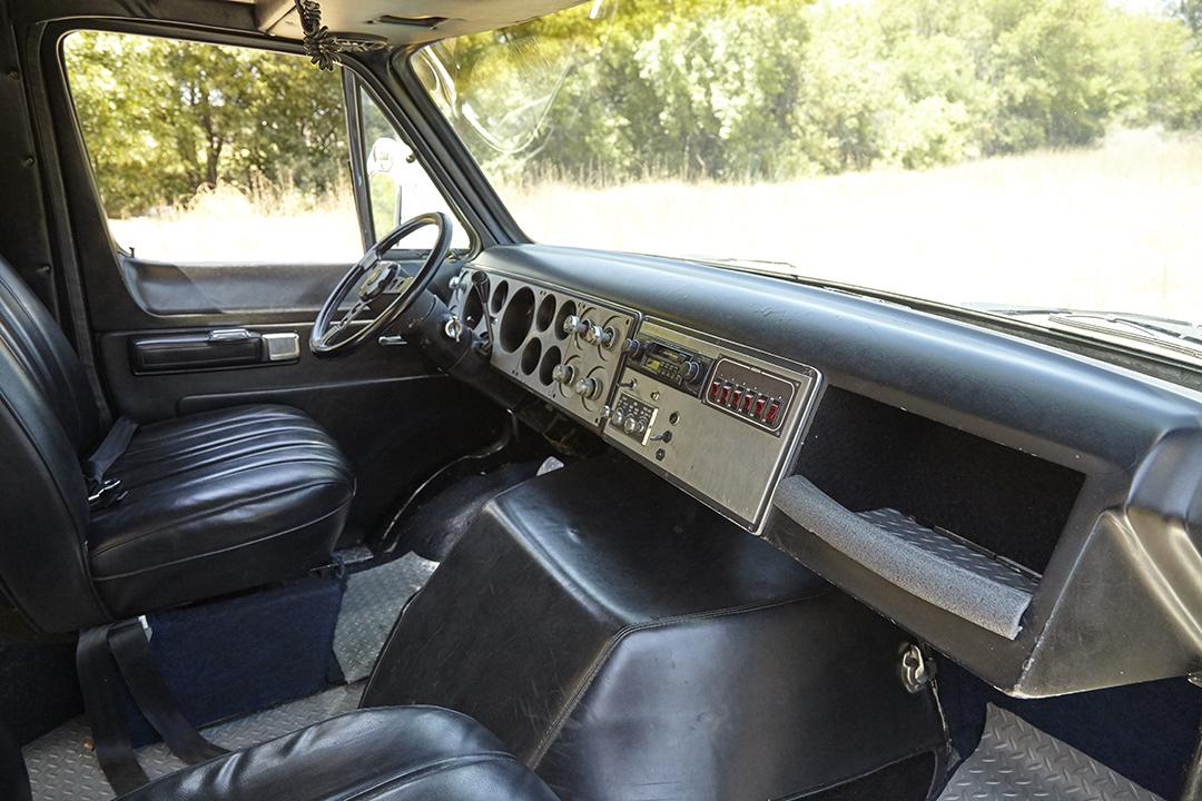 Deans Machine Van interior dash