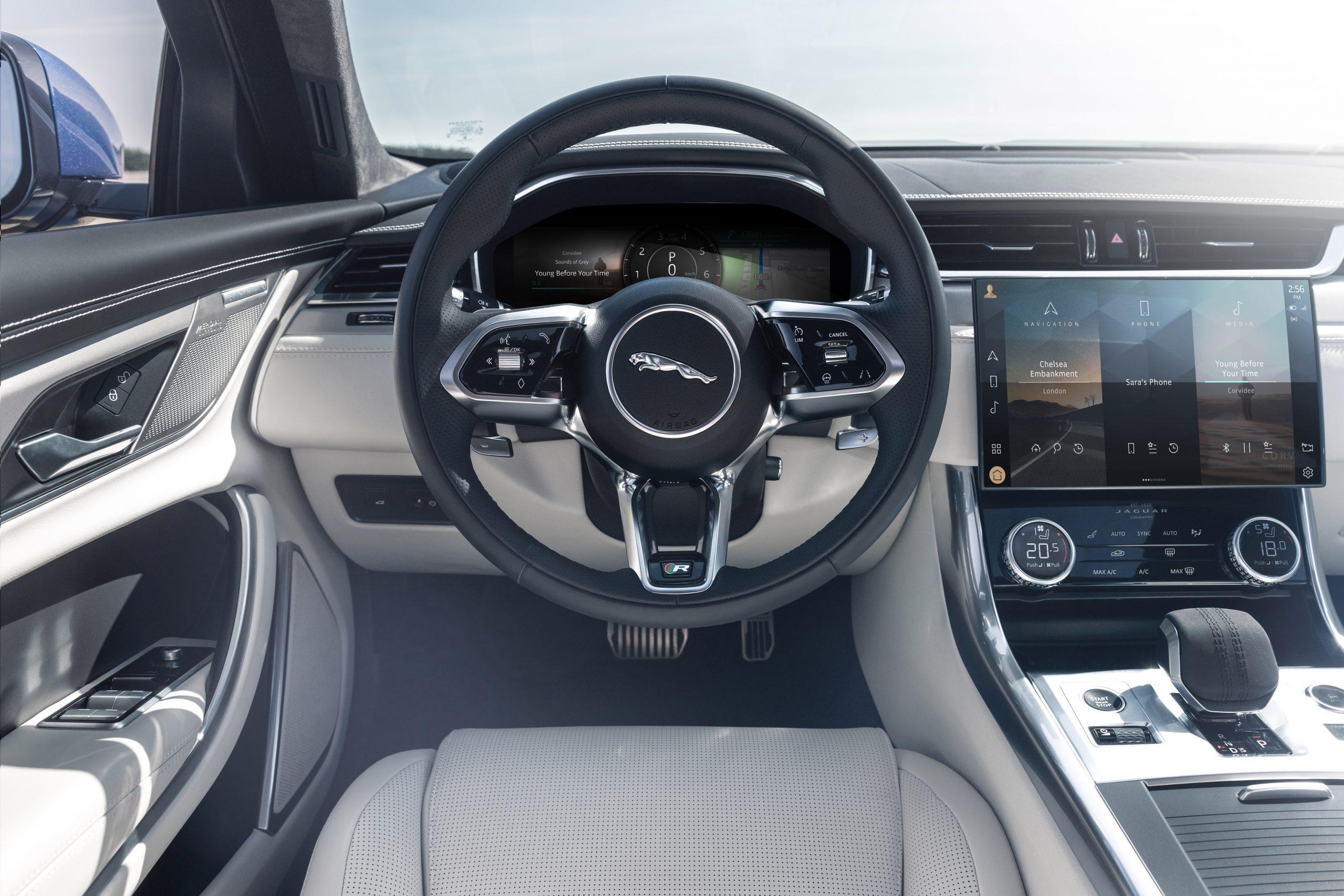 2021 Jaguar XF interior steering wheel